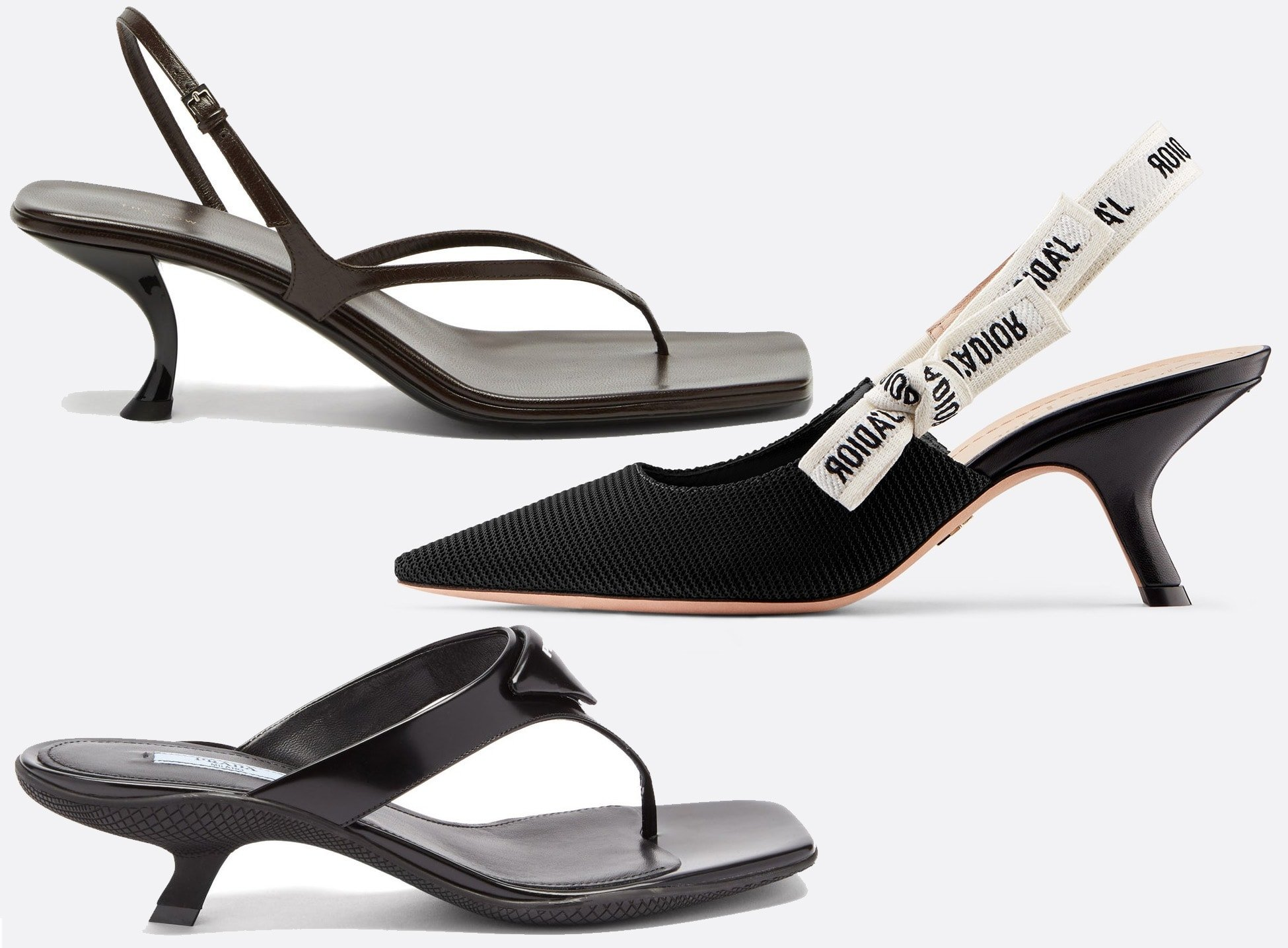 As the name suggests, comma-heeled shoes have heels that are shaped like a comma