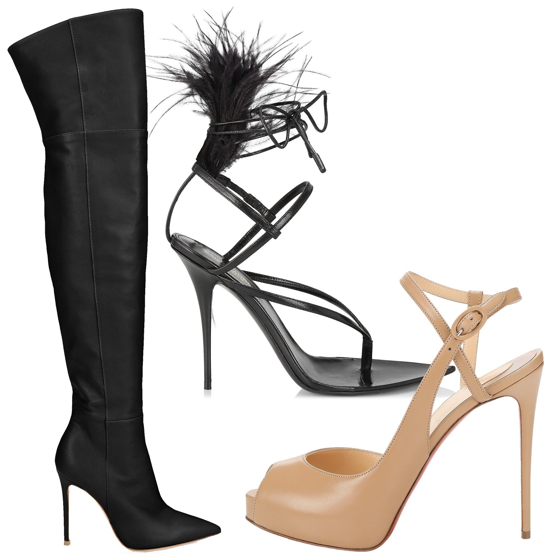 Named after the stiletto dagger, stiletto is the sexiest type of heel with its long and ultra-slim shape