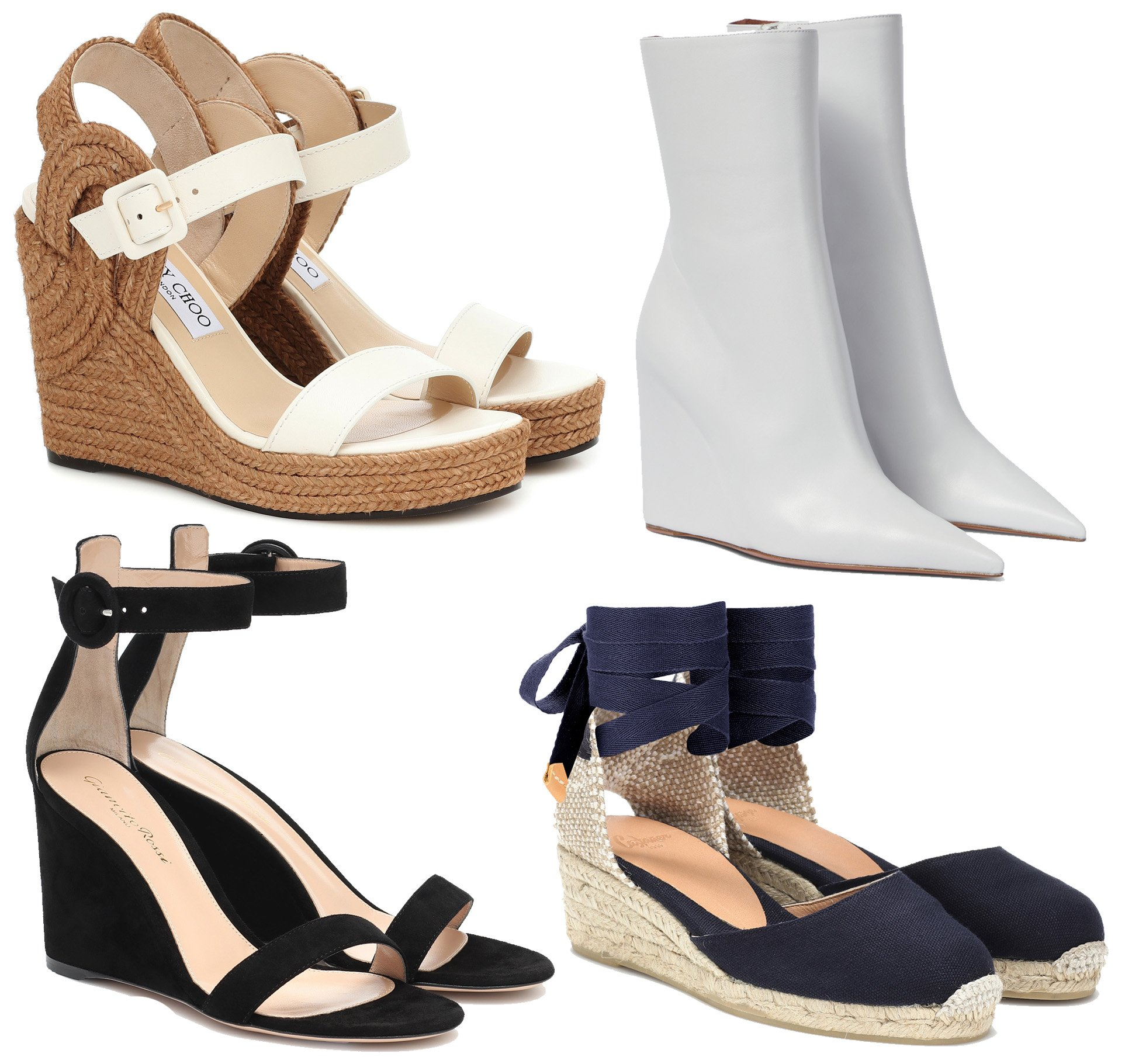 Wedge heels provide height and comfort without compromising style