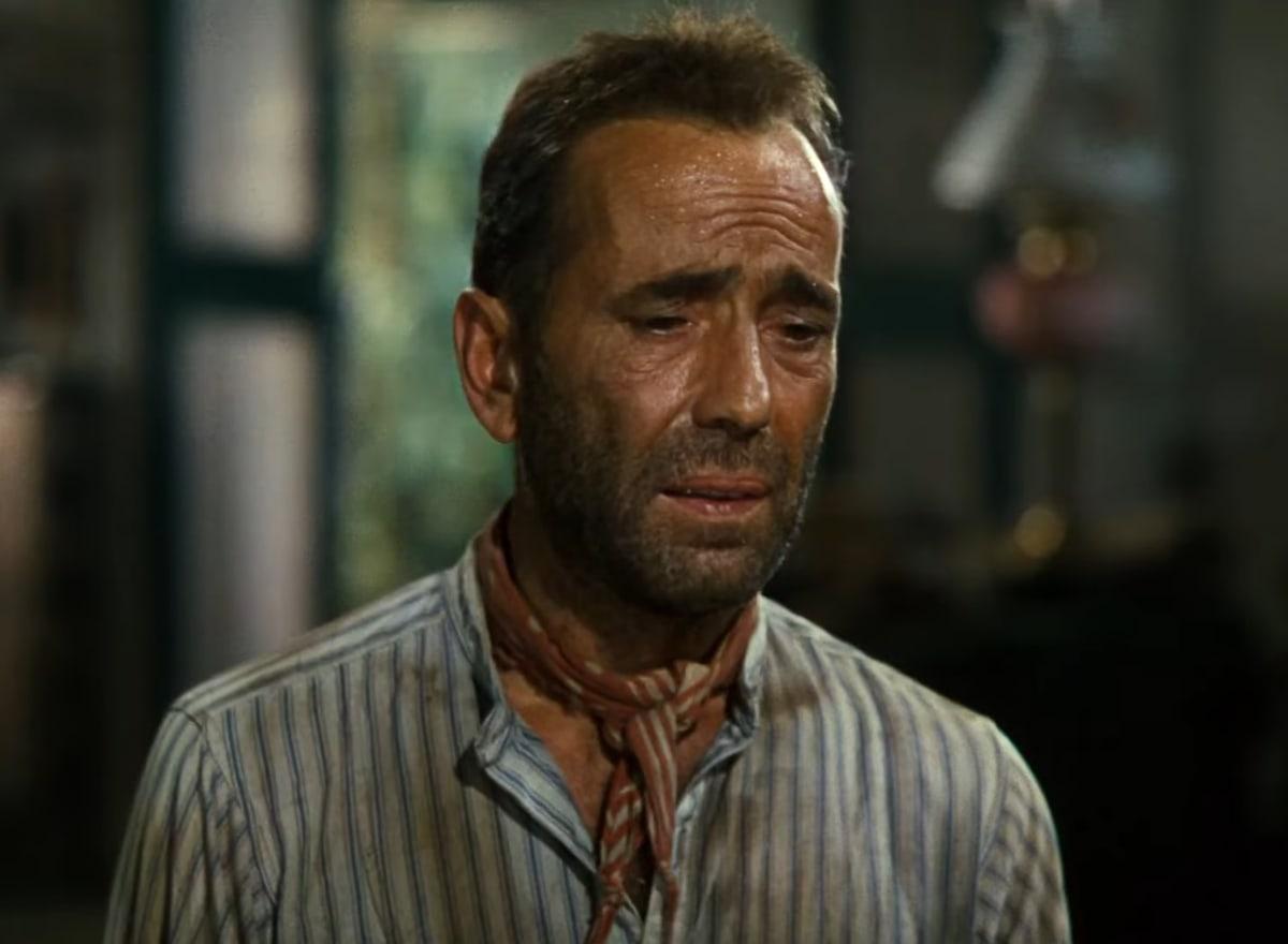 Humphrey Bogart as Charlie Allnut in the 1951 British–American adventure film The African Queen