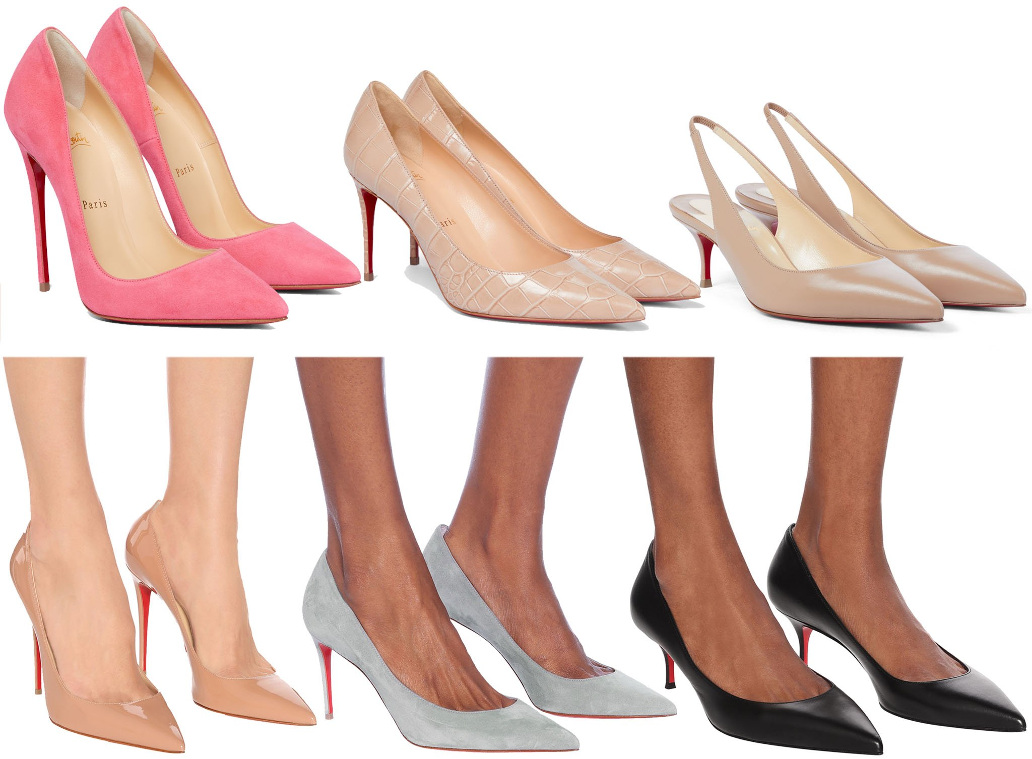 Christian Louboutin's Kate pump is available in varying heel heights for your personal preference and comfort