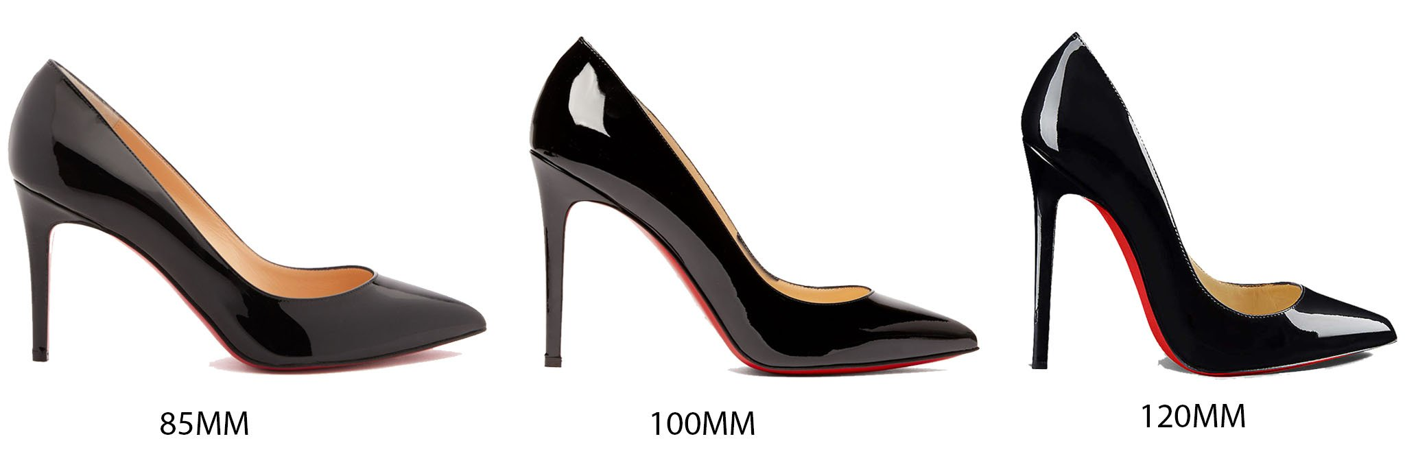 The Pigalle comes in different heel heights, from 85mm to 120mm