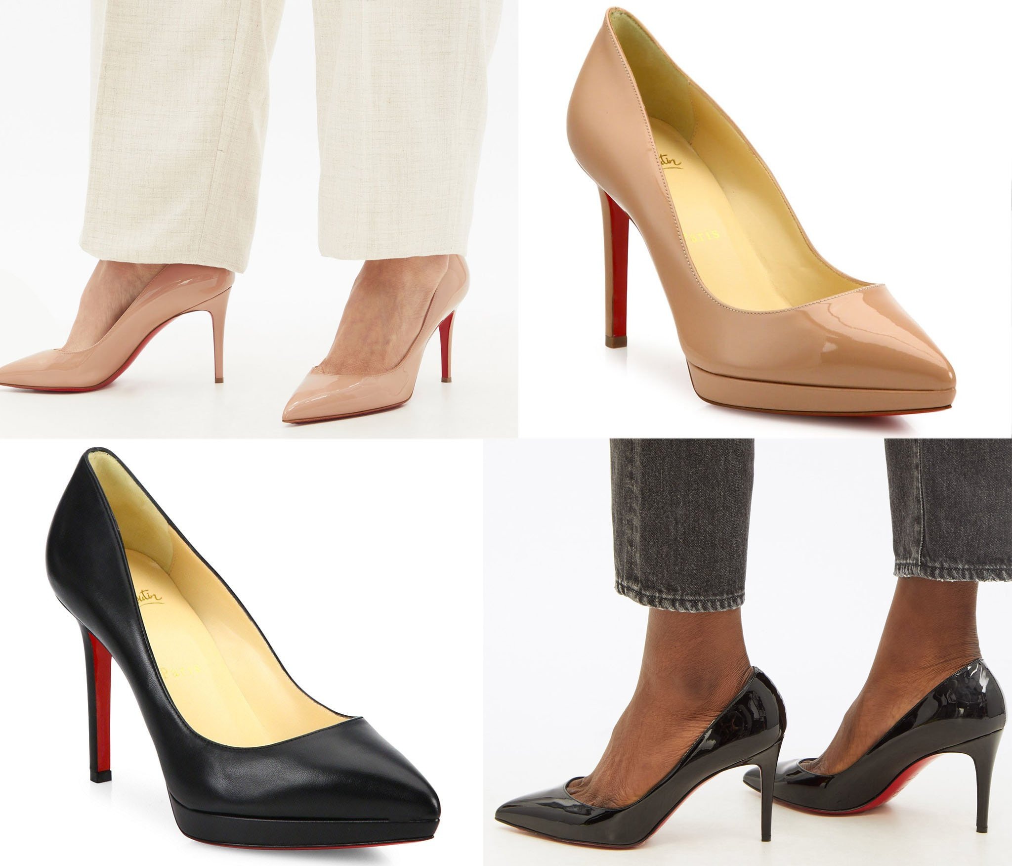 The Pigalle has the shortest toe box among Christian Louboutin pumps