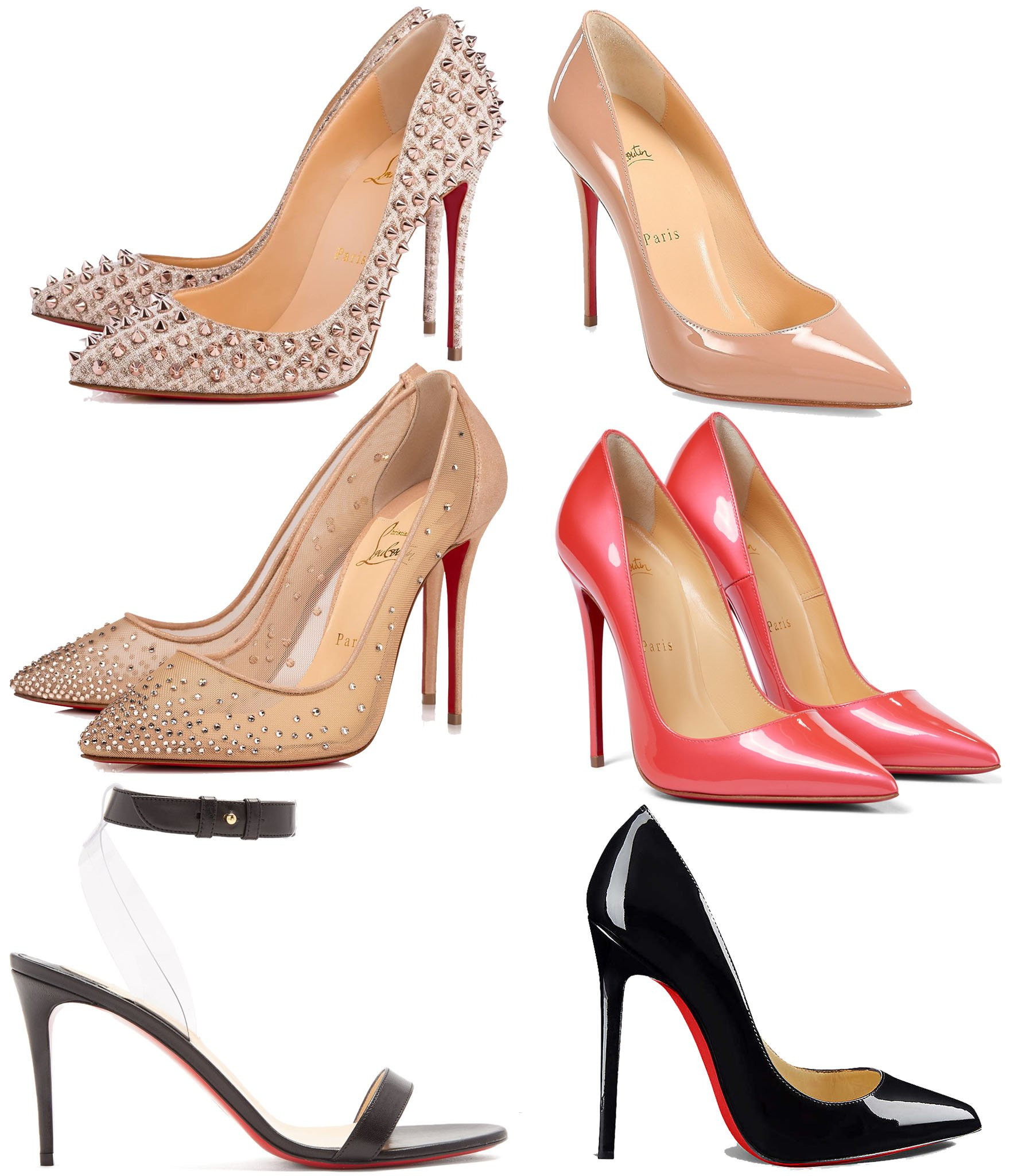 The Follies Spikes, Pigalle Follies, Follies Strass, So Kate, Jonatina, and Pigalle are some of Christian Louboutin's most popular shoe styles