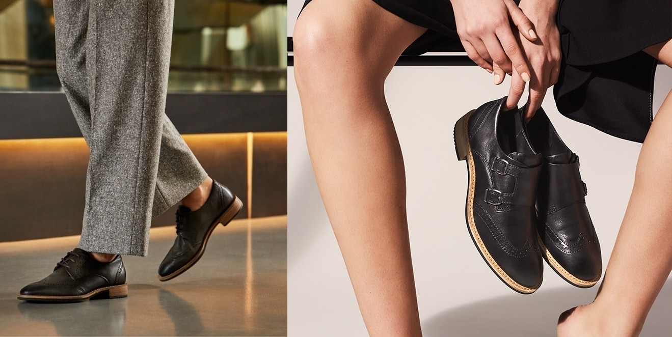 A modern take on a classic menswear-inspired look, this derby style from ECCO incorporates feminine details that complete any look