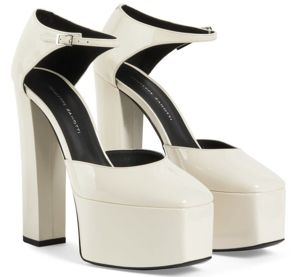 The Bebe sandals boast 6-inch towering heels and 2.7-inch platforms