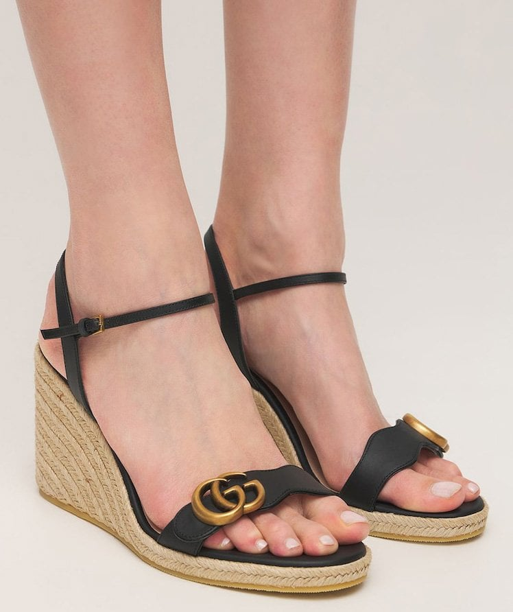 Sleek and chic, Gucci's streamlined espadrille is a perfect finish to every summer outfit