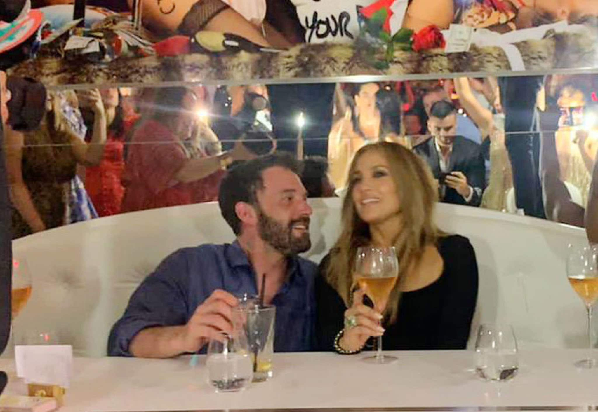 Ben Affleck and Jennifer Lopez step out for dinner date at L'Opera restaurant in St. Tropez on July 24, 2021