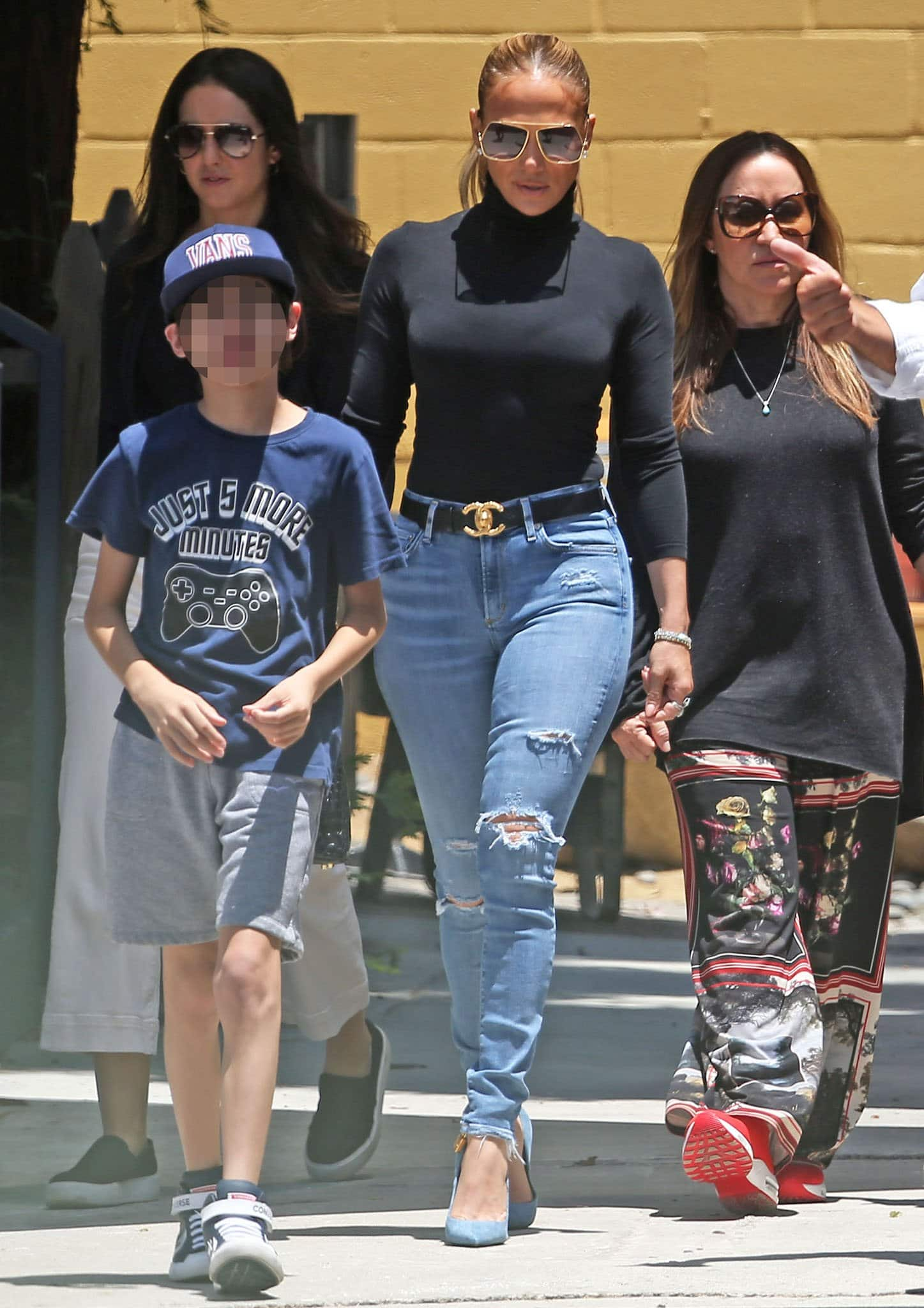 Jennifer Lopez touring a school in Santa Monica with son Max on July 10, 2021