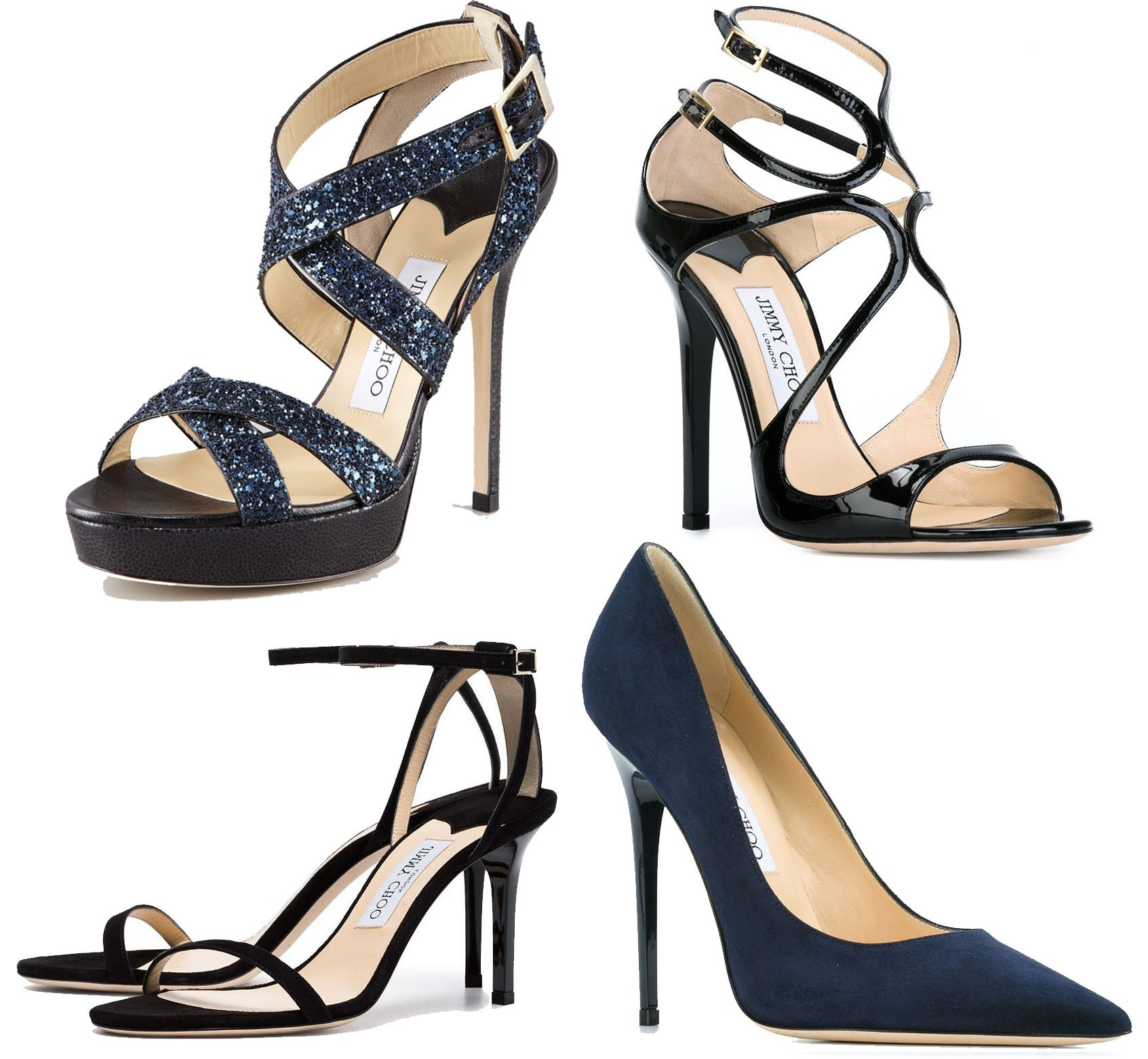 Some of Jimmy Choo's popular styles include the Vamp, Lance, Minny, and Anouk