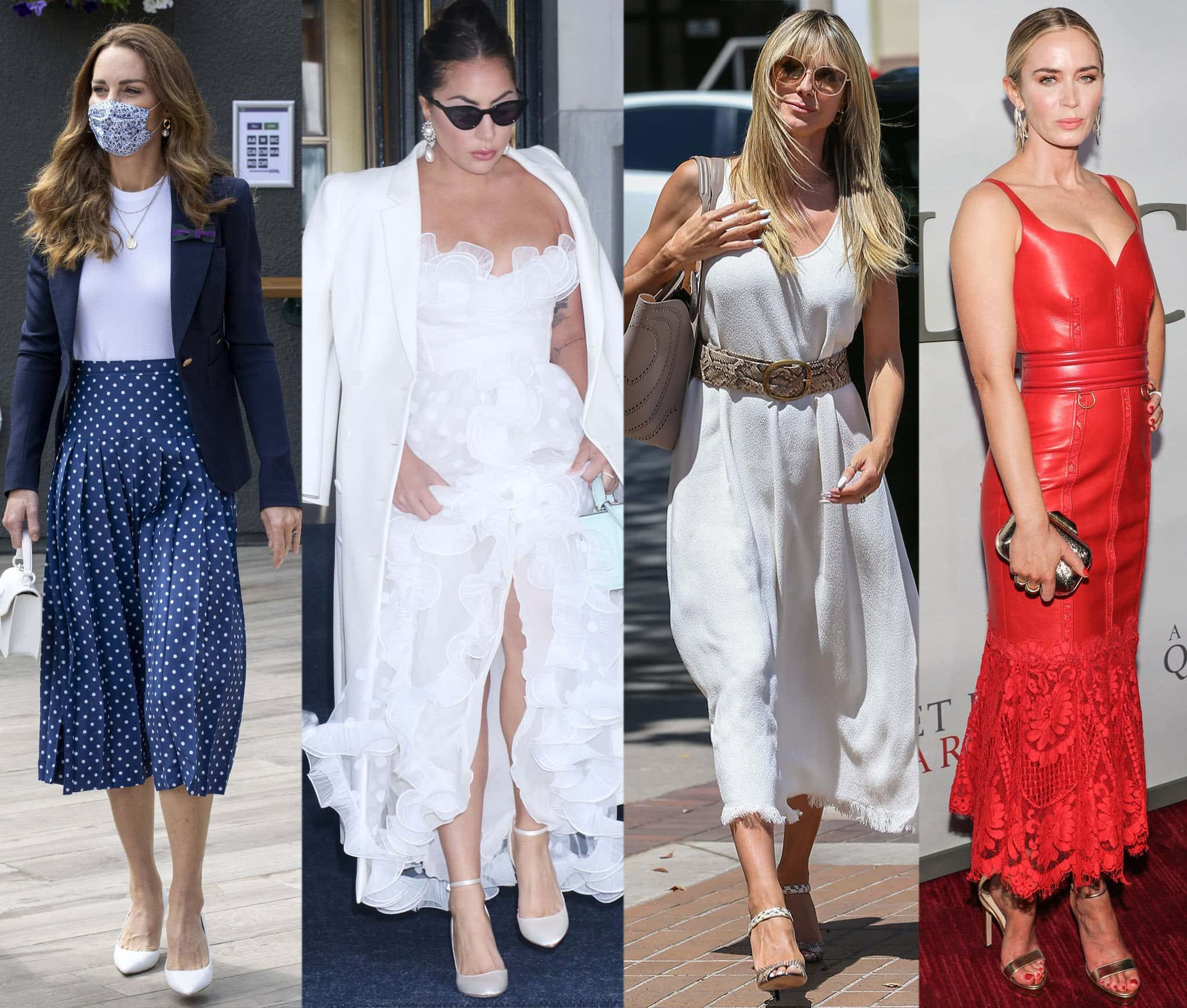 Kate Middleton, Lady Gaga, Heidi Klum, and Emily Blunt wearing Jimmy Choos