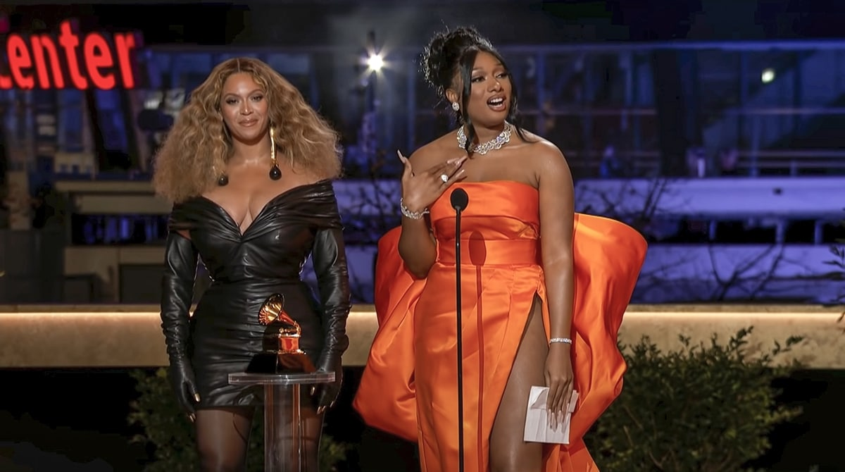"""Beyonce and Megan Thee Stallion won Best Rap Song for the """"Savage"""" remix at the 2021 Grammys"""