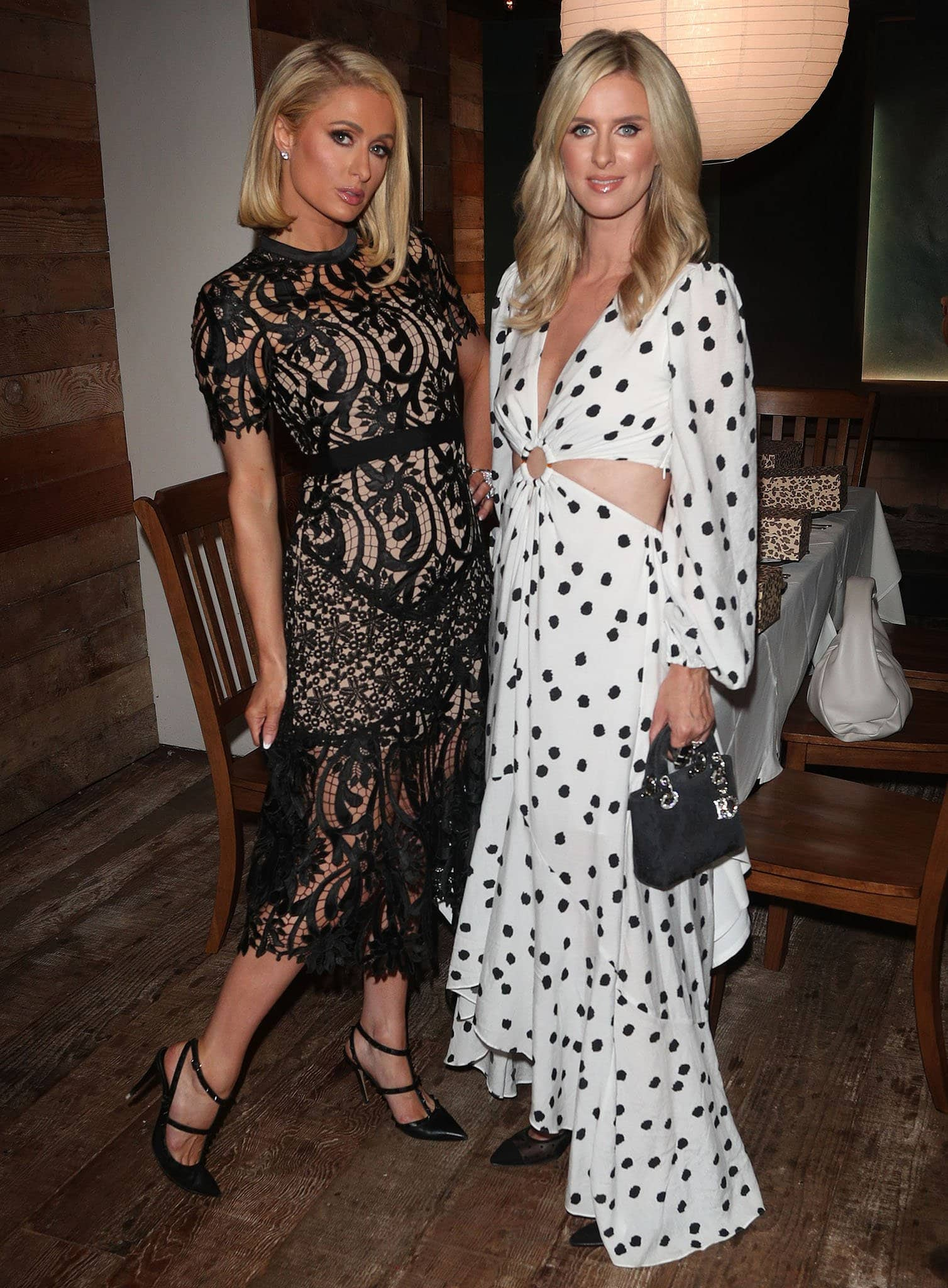 Paris Hilton joins her younger sister at her French Sole summer dinner party