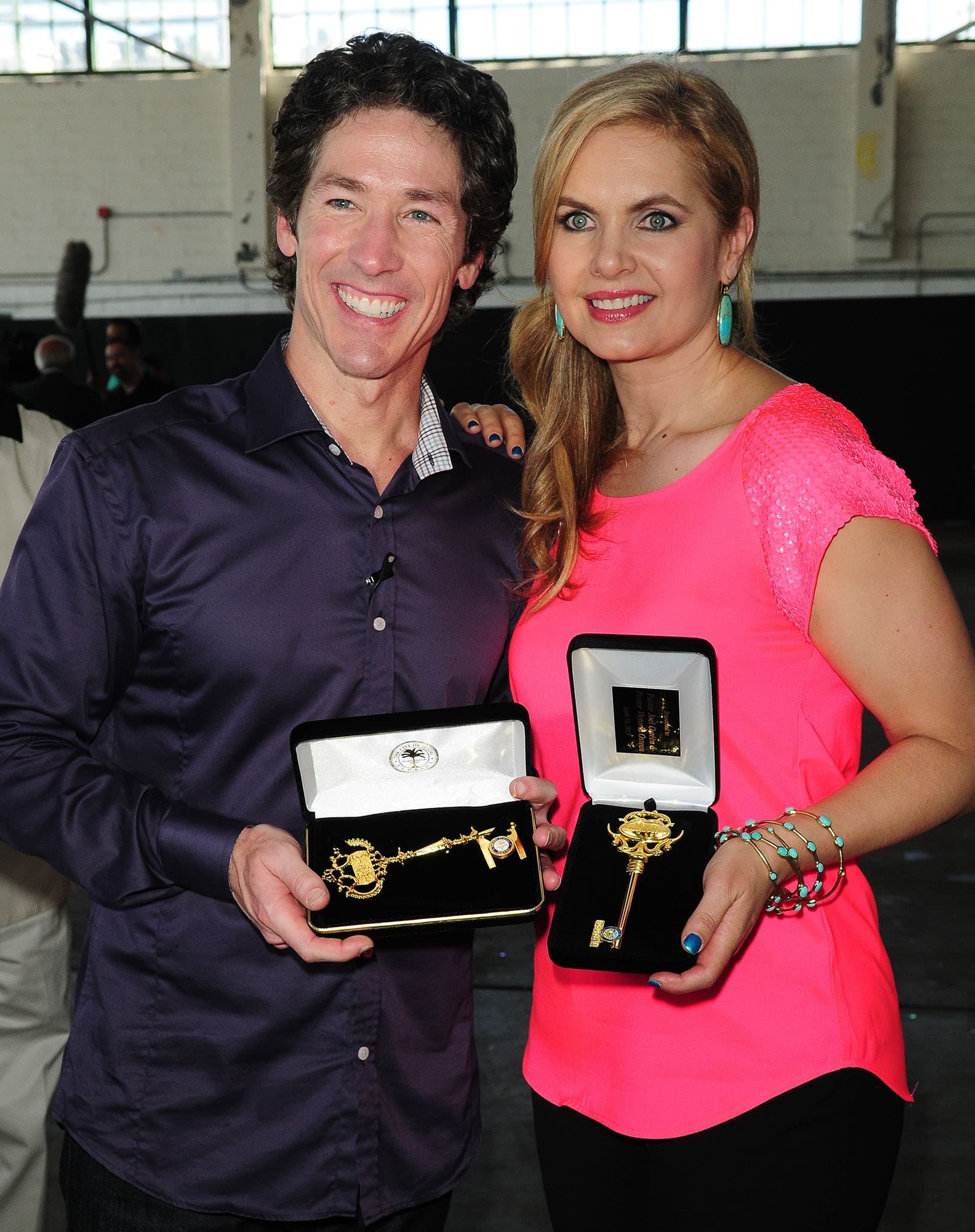 Pastor Joel Osteen and his wife Victoria, pictured in 2013, are rumored to be getting divorced