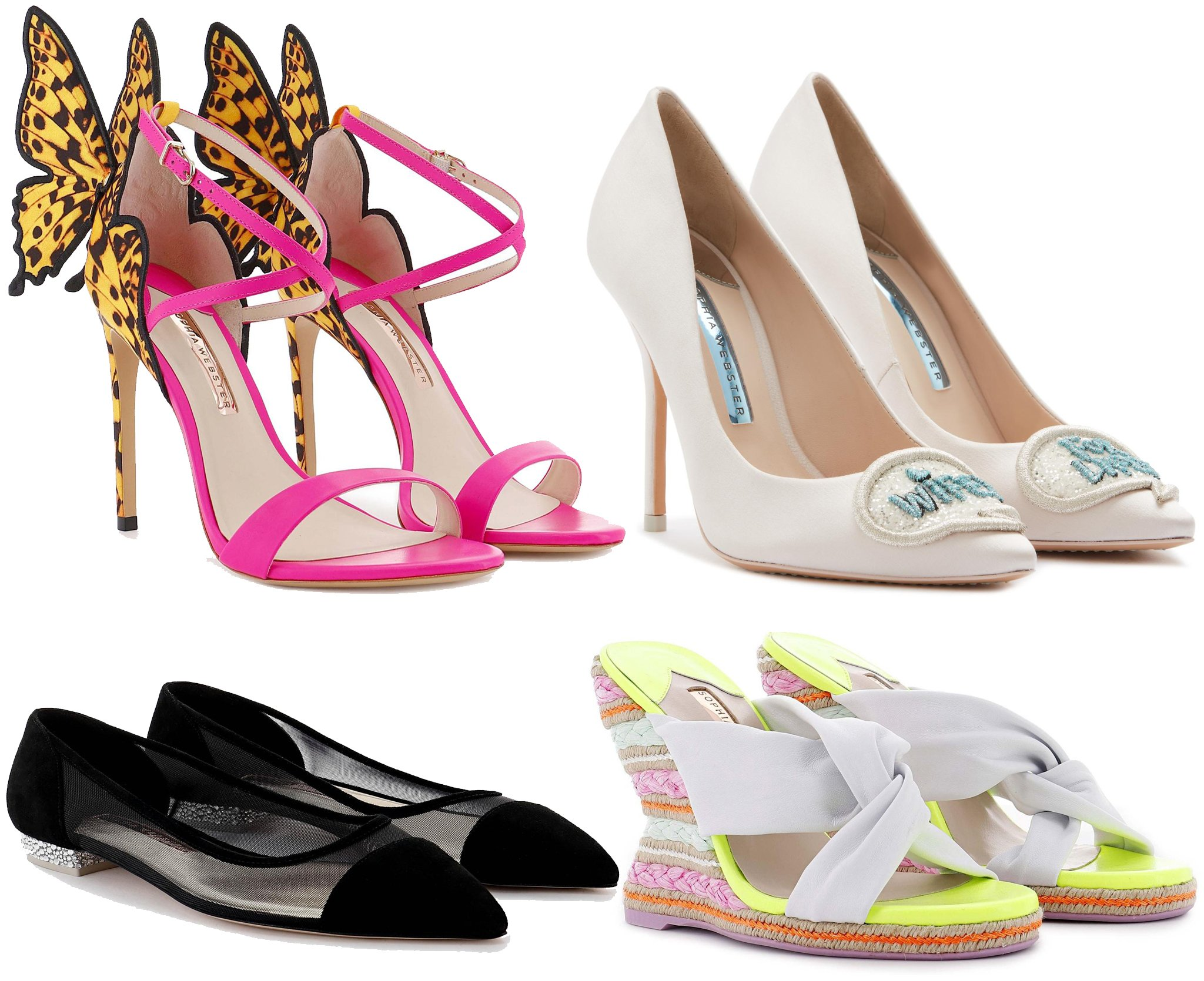 While Sophia Webster is famous for the Chiara winged design, the brand also has everything from espadrilles to flats