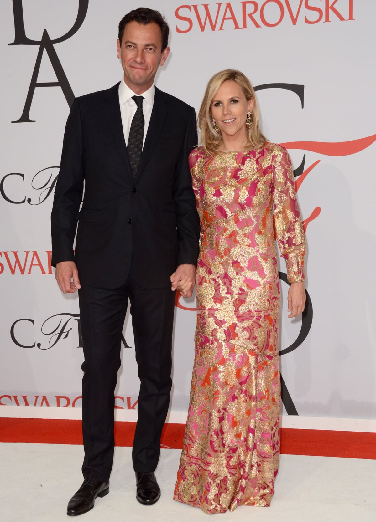 Tory Burch married her third husband, former LVMH executive Pierre-Yves Roussel, in 2018
