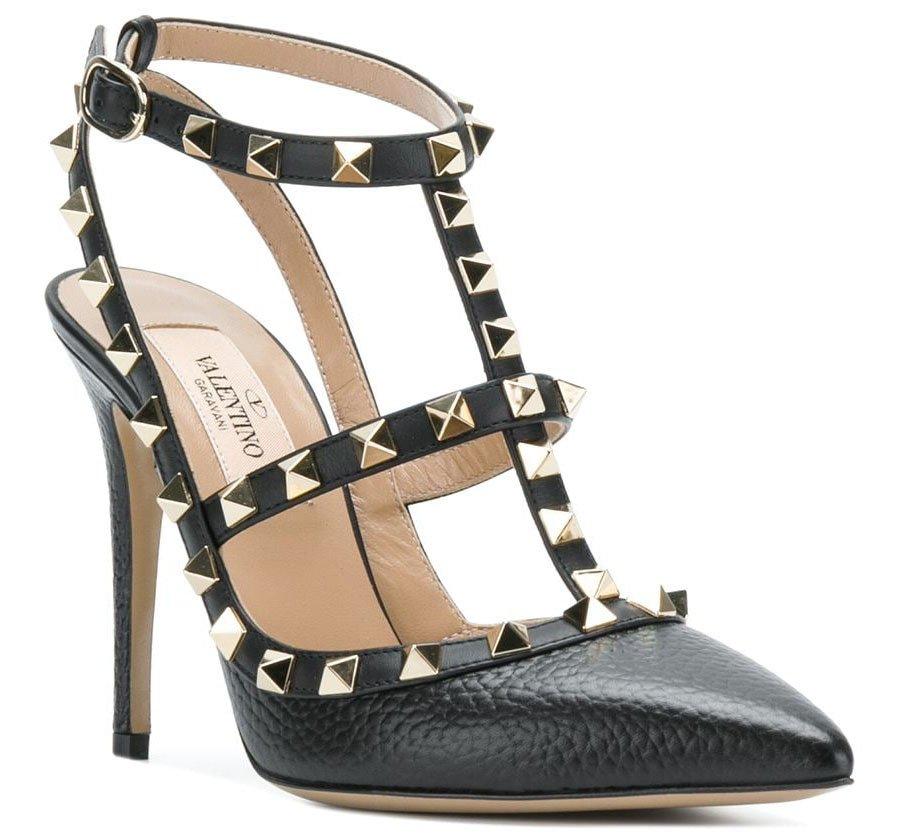 Rockstud embellishments define this classic favorite Valentino pump