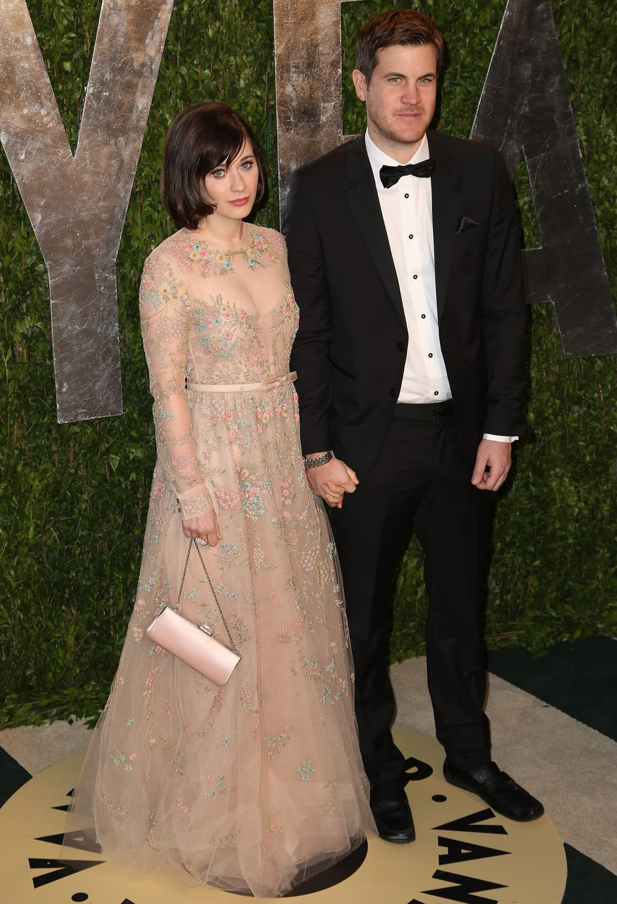 Pictured at the 2013 Vanity Fair Oscar Party, Zooey Deschanel and Jamie Linden were in a relationship between 2012 and 2014