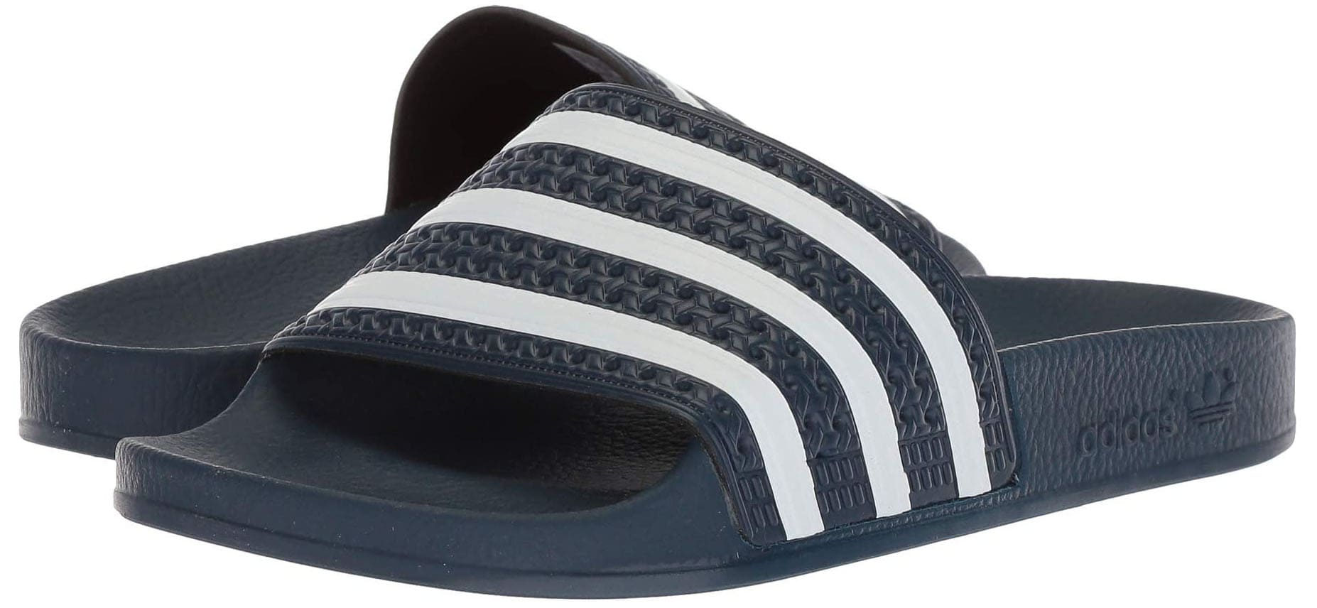 A comfy slide sandal with a contoured footbed and PU outsole for durability and traction