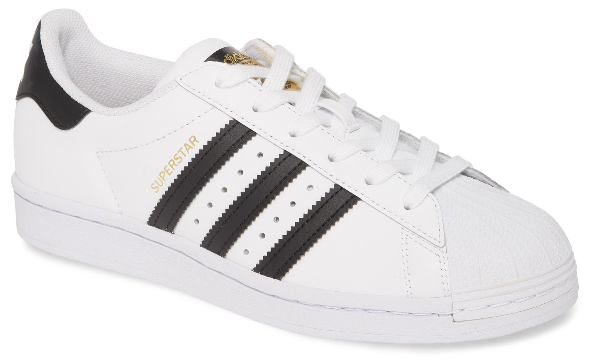 The Superstar is one of Adidas' most iconic silhouettes featuring serrated 3-stripes and a clamshell toe
