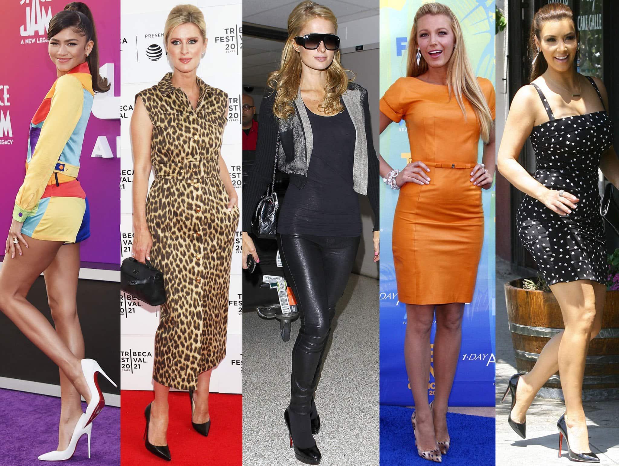 Zendaya, Nicky Hilton, Paris Hilton, Blake Lively, and Kim Kardashian are just a few of the many celebrities who love Christian Louboutin heels