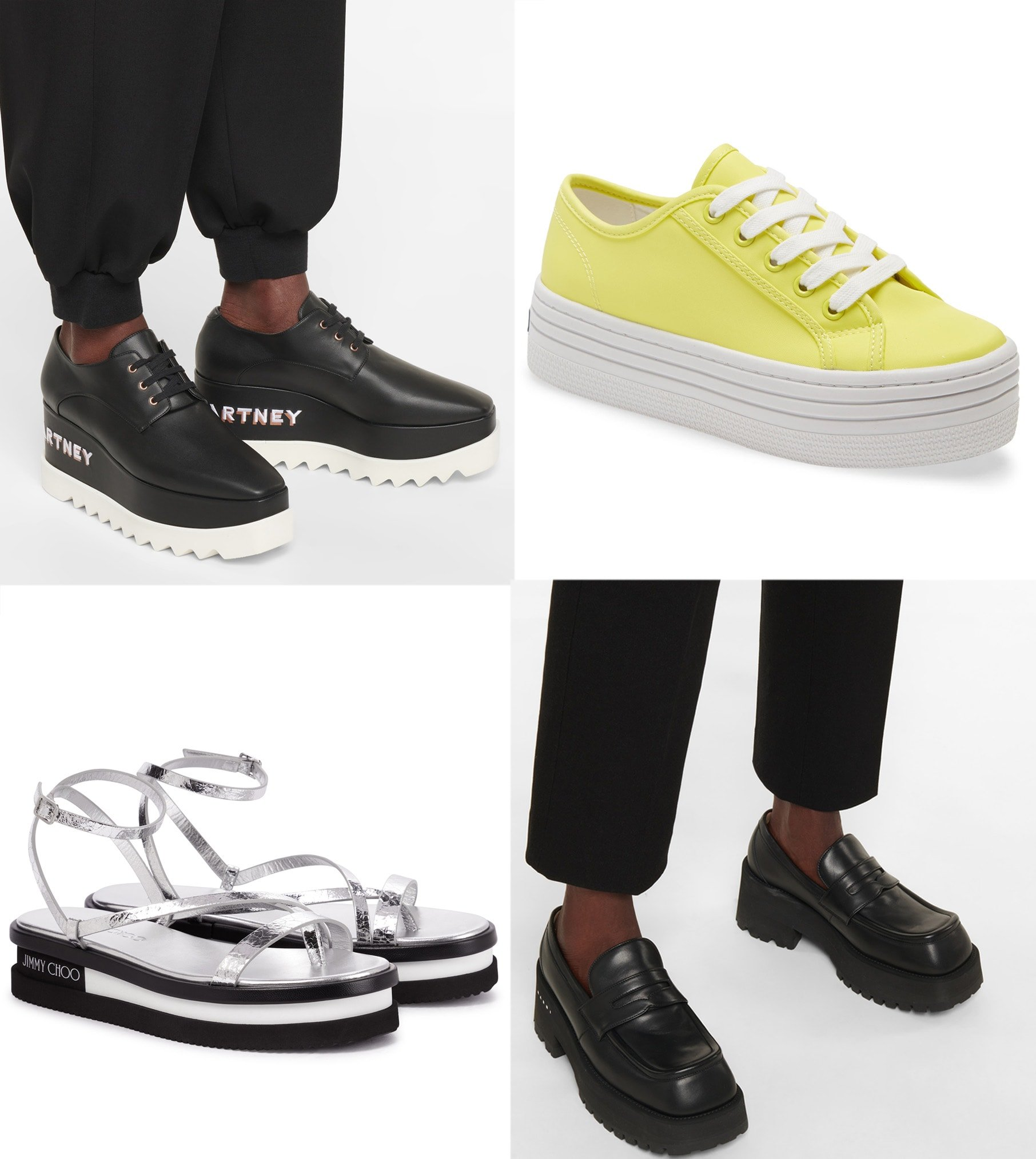 """Also called """"flatforms,"""" these shoes add height without sacrificing style and comfort"""