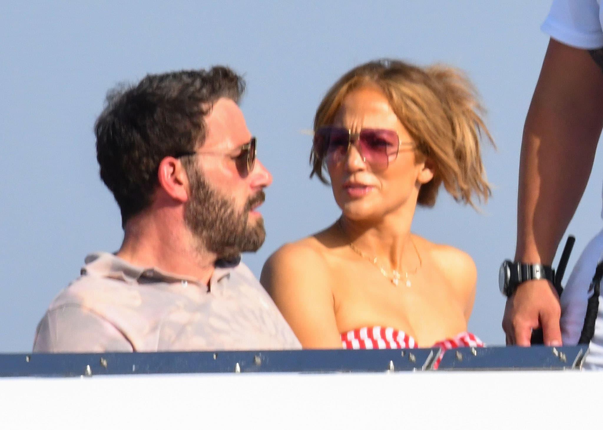 Jennifer Lopez and Ben Affleck cruising around Amalfi coast on board the Valerie yacht on July 28, 2021