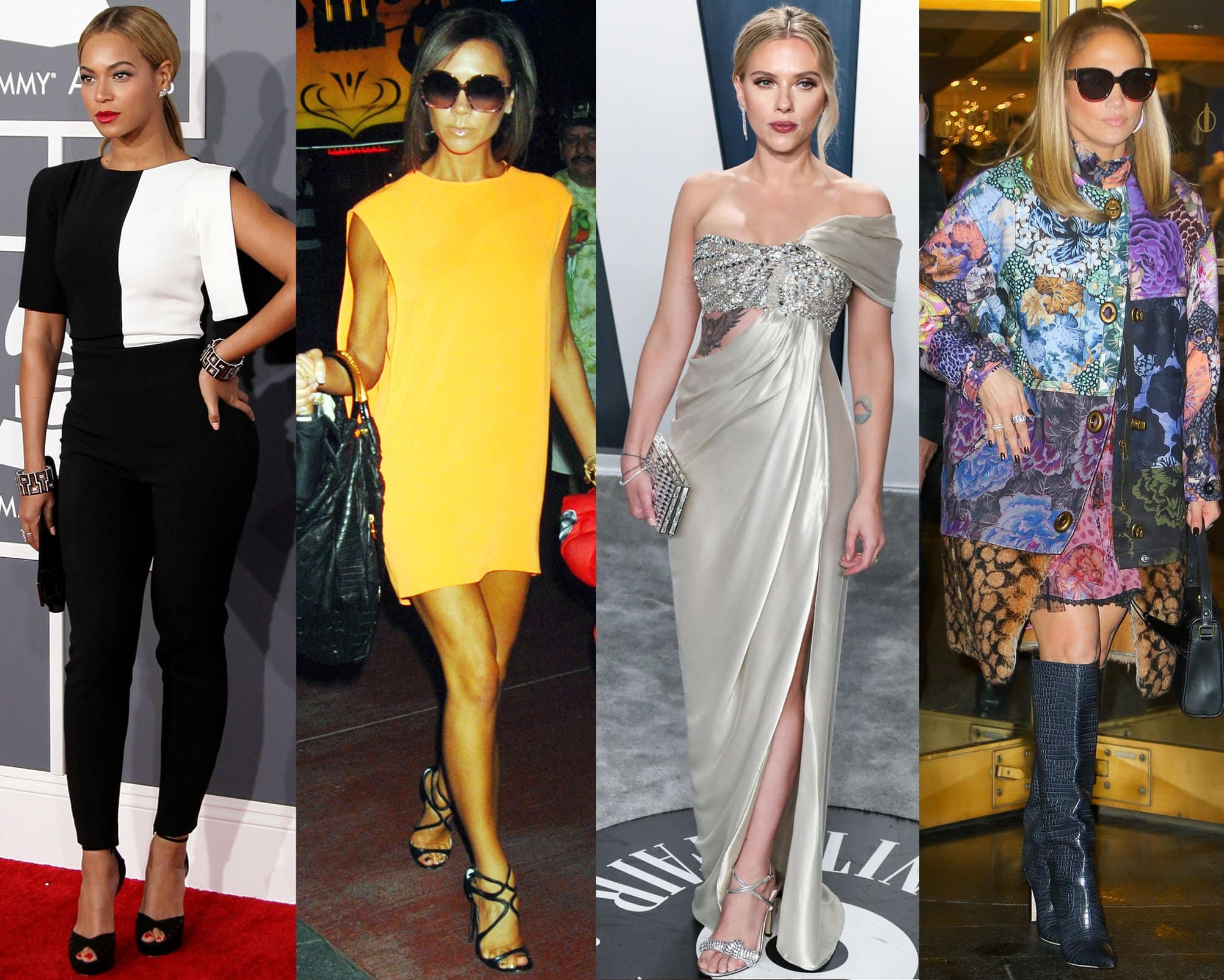 Beyonce, Victoria Beckham, Scarlett Johansson, and Jennifer Lopez are just some of the many celebrity fans of Jimmy Choo