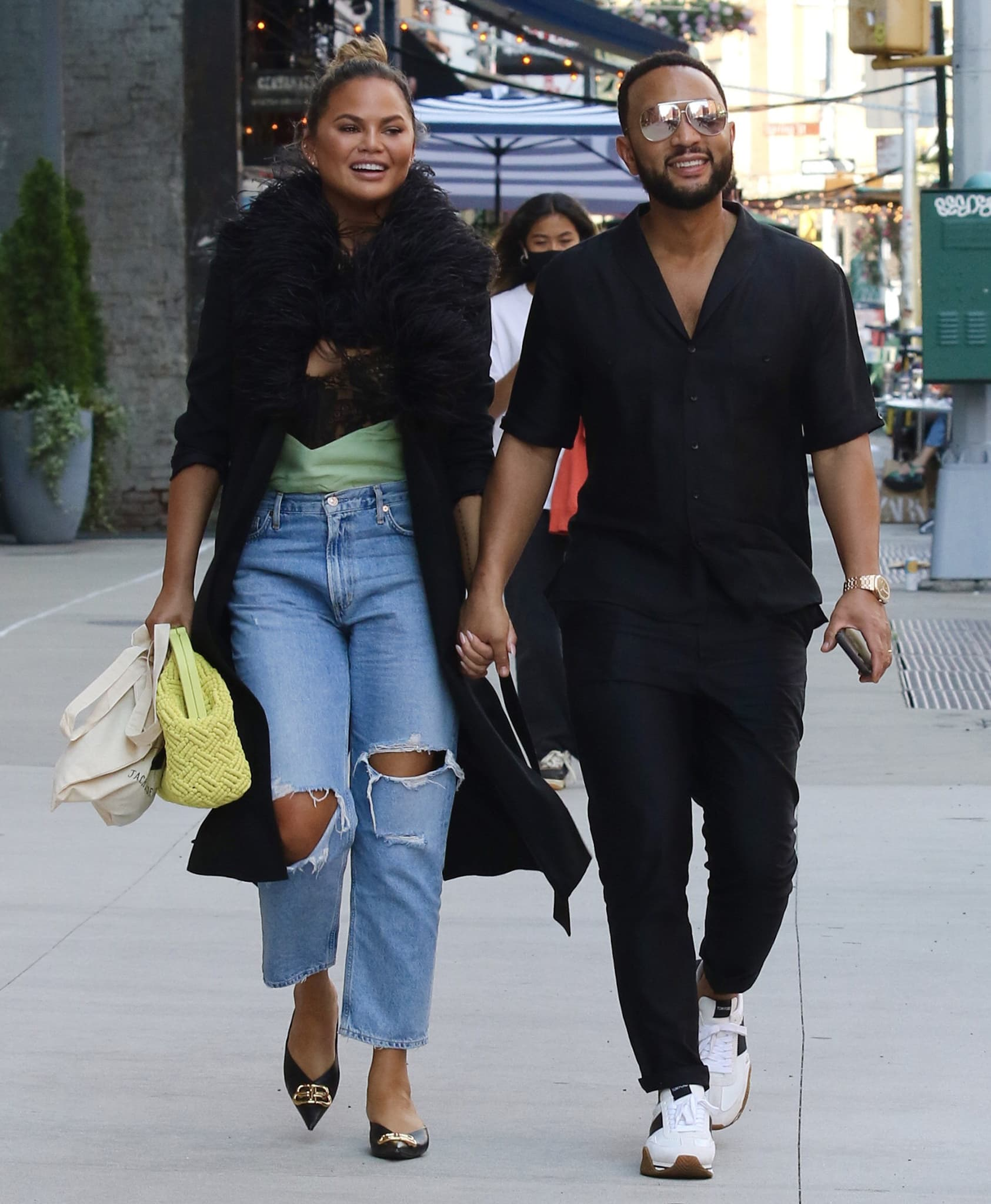 Chrissy Teigen and John Legend on a lunch date in New York City