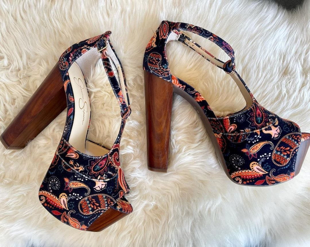 Jessica Simpson's all-time favorite sky-high platform heel with an adjustable T-strap