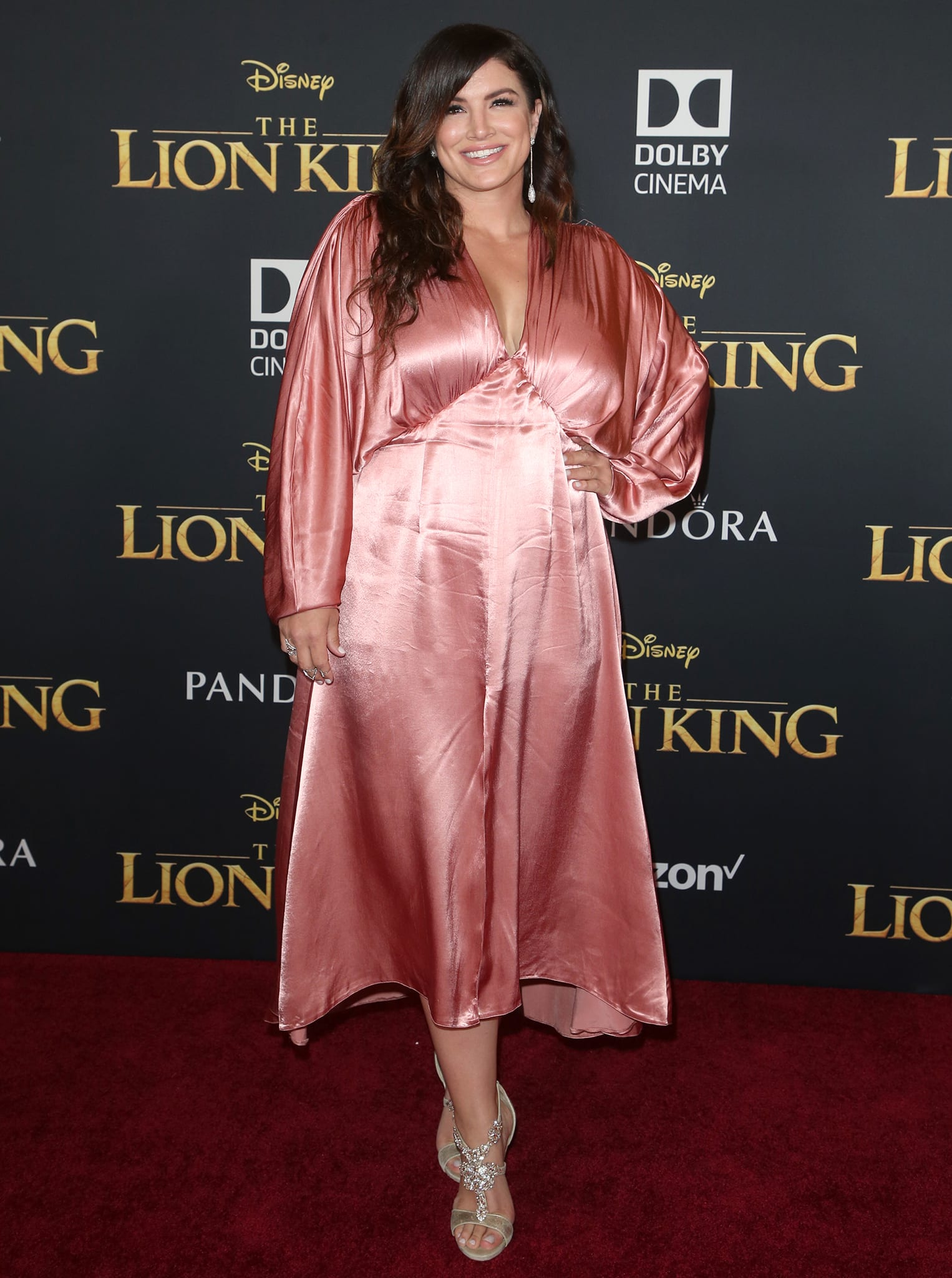 Gina Carano at the premiere of Disney's Lion King on July 10, 2019