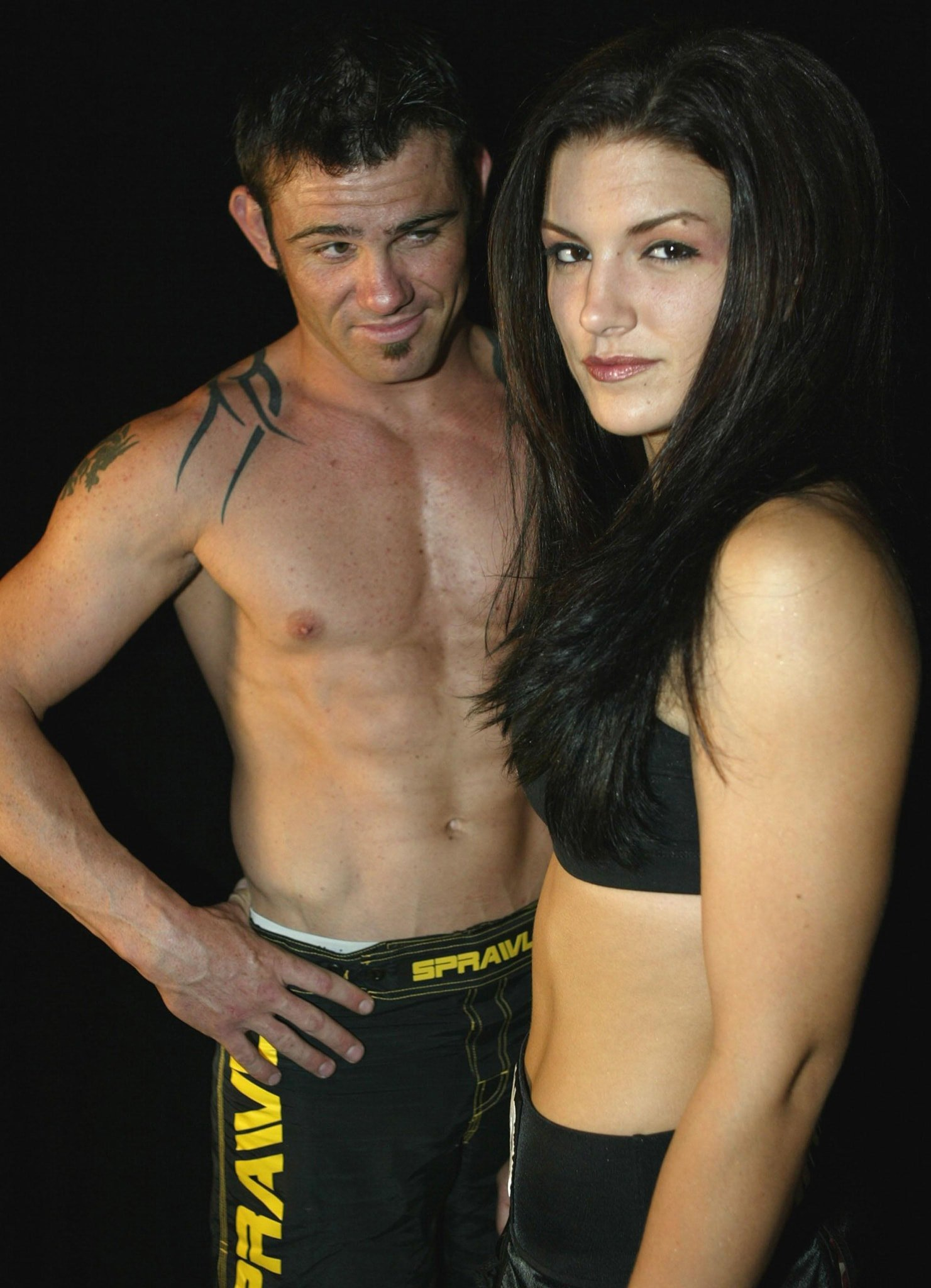 Gina Carano pictured in 2006 with then trainer and World Champion boxer Kit Cope