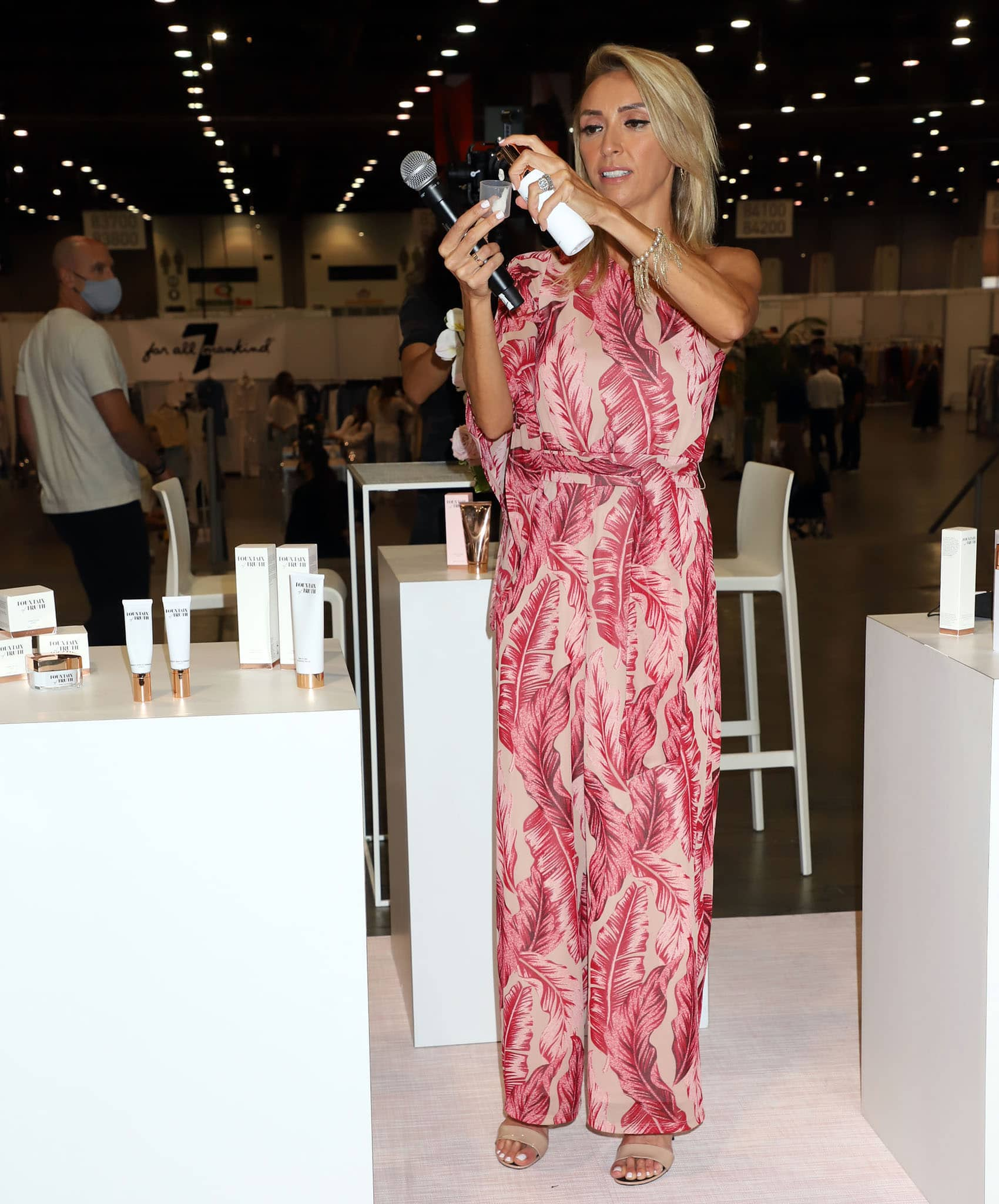 Giuliana Rancic demos her skincare line Fountain of Truth during day two of Magic Las Vegas