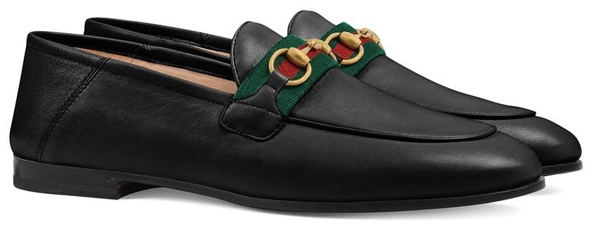 A classic pair of Gucci shoes that feature the fashion house's horse-bit detailing