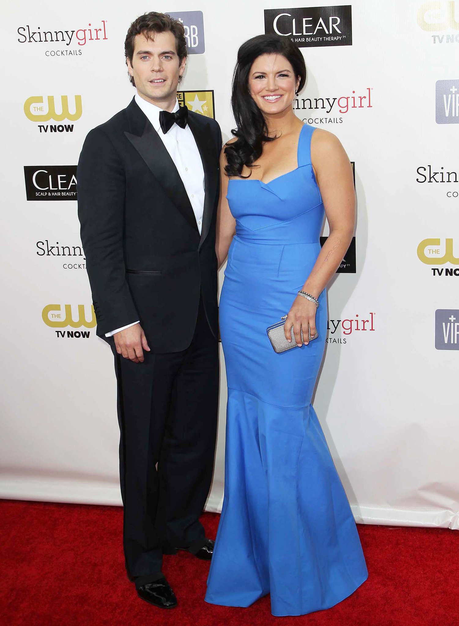 Henry Cavill and Gina Carano, pictured at the 18th Annual Critics' Choice Movie Awards, began dating in 2012