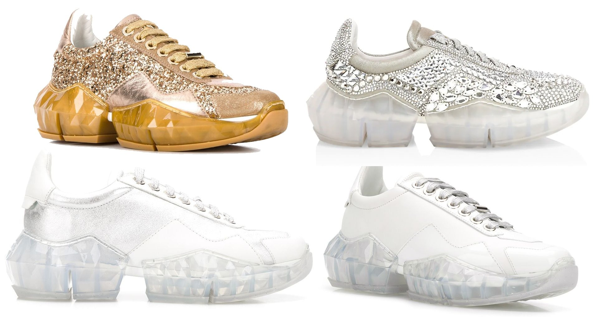 The Diamond sneakers take their name from the chunky molded diamond thermoplastic polyurethane sole
