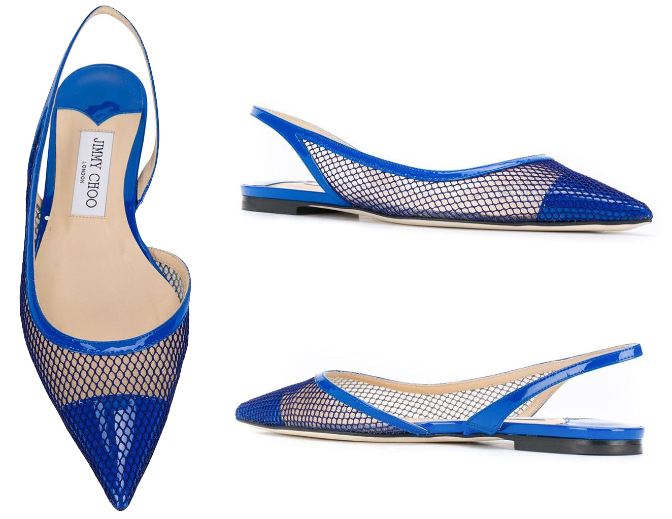 The Fetto slingback shoes come in several versions, including the mesh-paneled ballerina