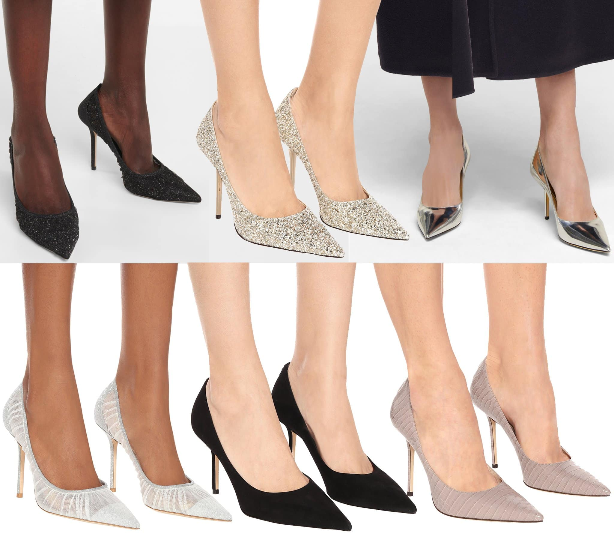 Defined by the pointed toes and high-cut silhouette, you can find the Love pumps in an array of versions— from leather to tulle, crystals, and glitters