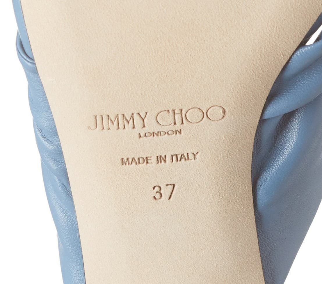 Jimmy Choo manufactures its shoes in Italy