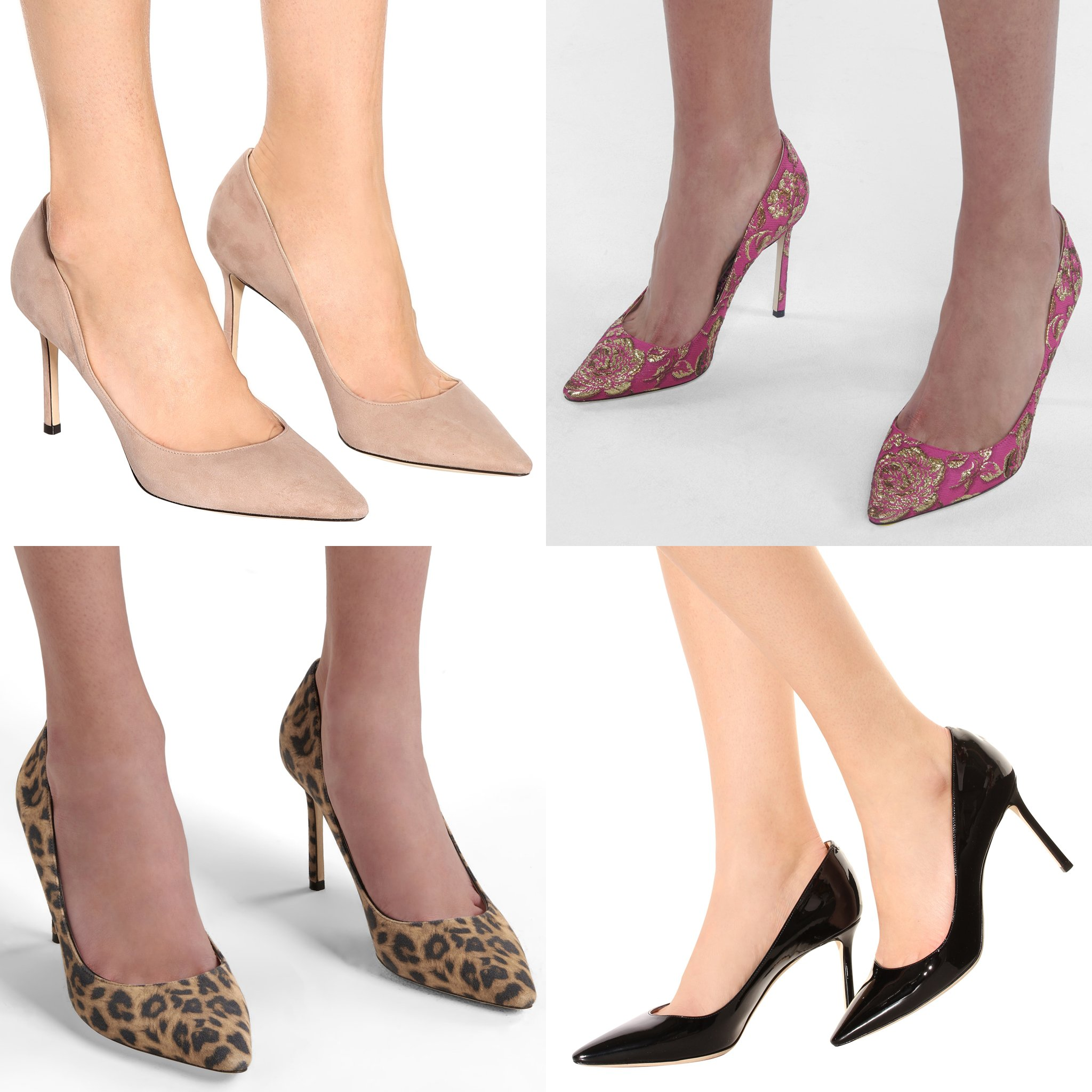 You can also find the Romy pumps in different colors, prints, and materials