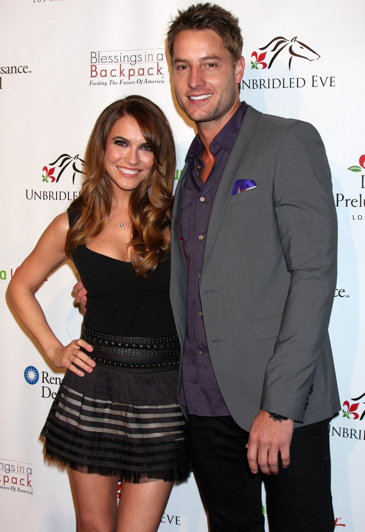 Justin Hartley met Chrishell Stause for the first time when she was working with Justin's ex-wife, Lindsay Hartley, on the set of All My Children