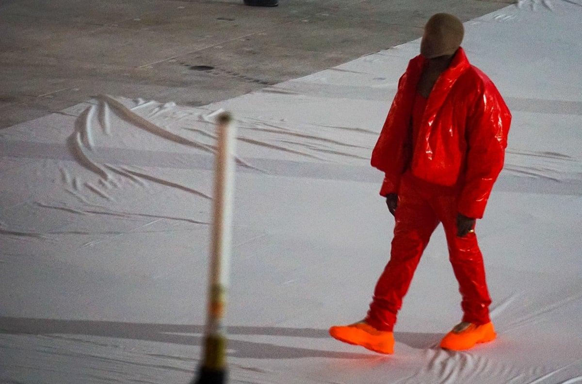 Kanye West at 'DONDA by Kanye West' listening event at Mercedes-Benz Stadium