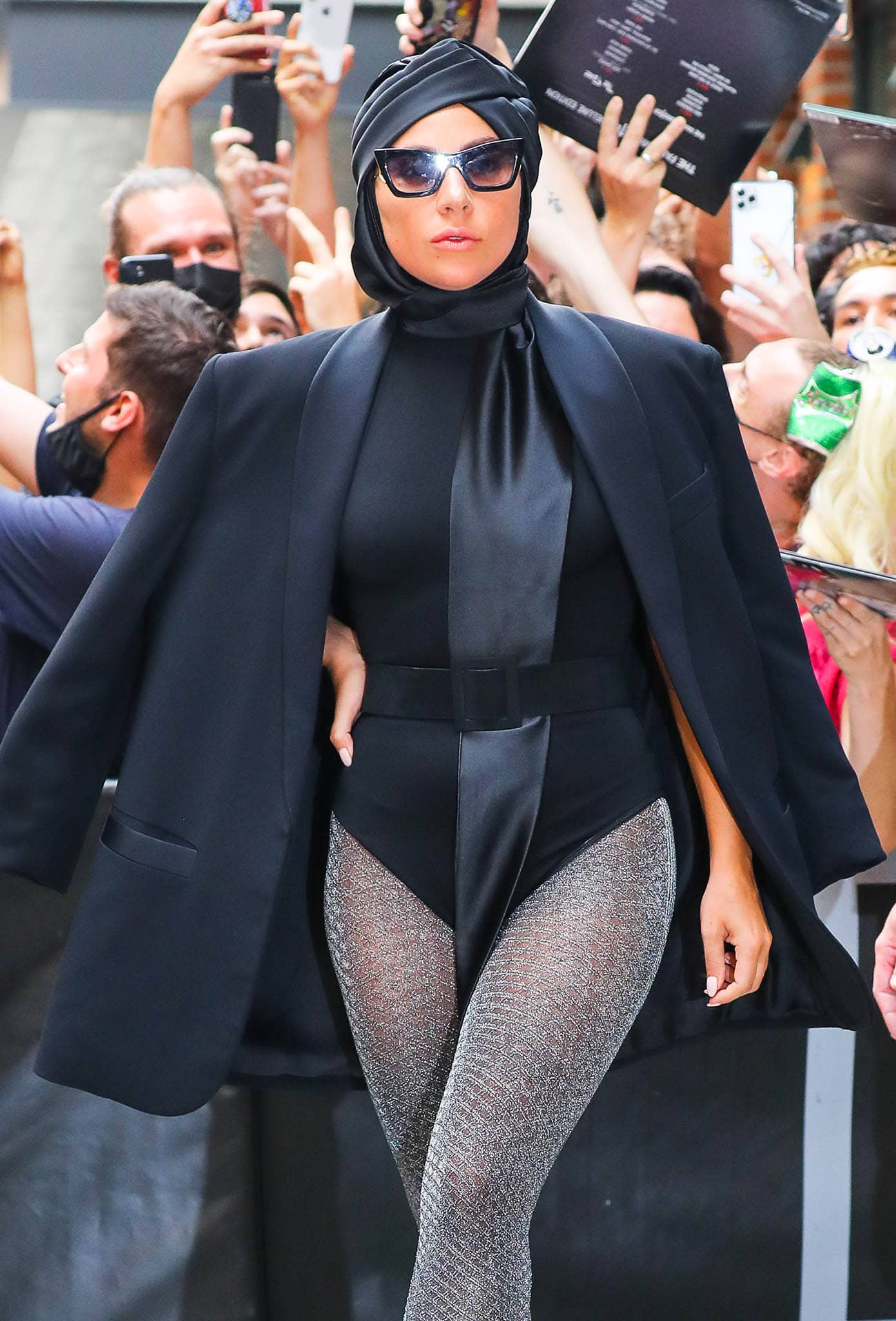 Lady Gaga shows her unique style sense with a Flapper Genoveffa C turban