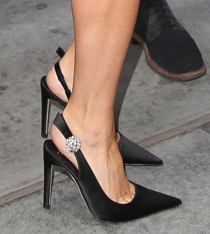 Lady Gaga adds sparkle to her look with Giuseppe Zanotti Sphera pumps
