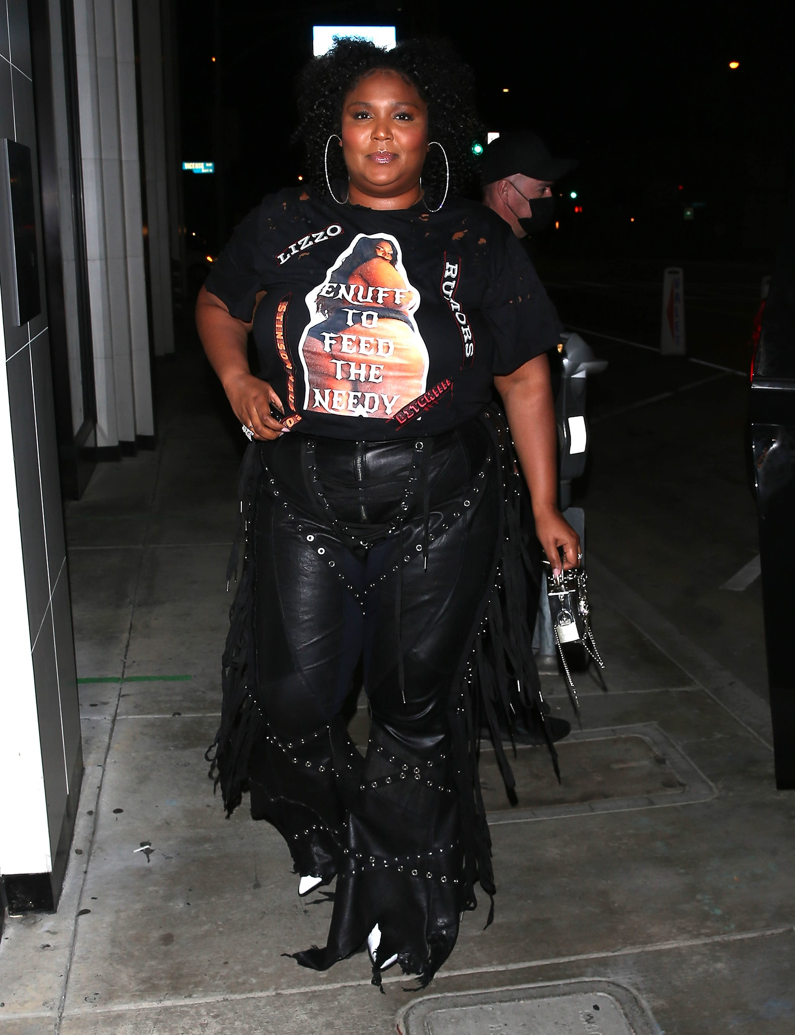 Lizzo arriving for dinner at Catch Restaurant in West Hollywood
