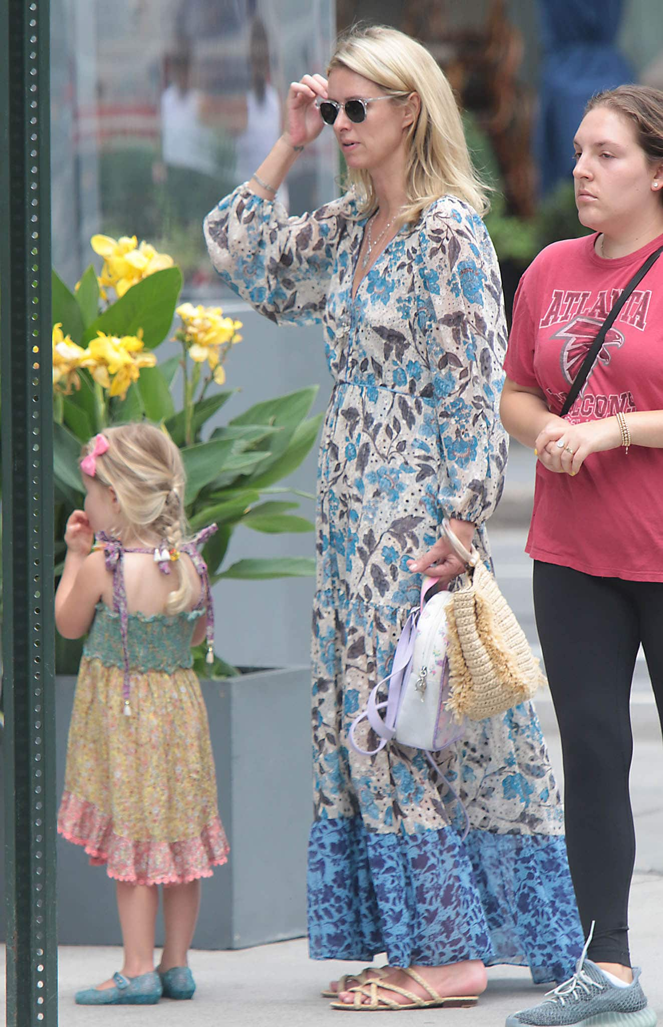 Nicky Hilton steps out with her daughter in New York City on July 29, 2012