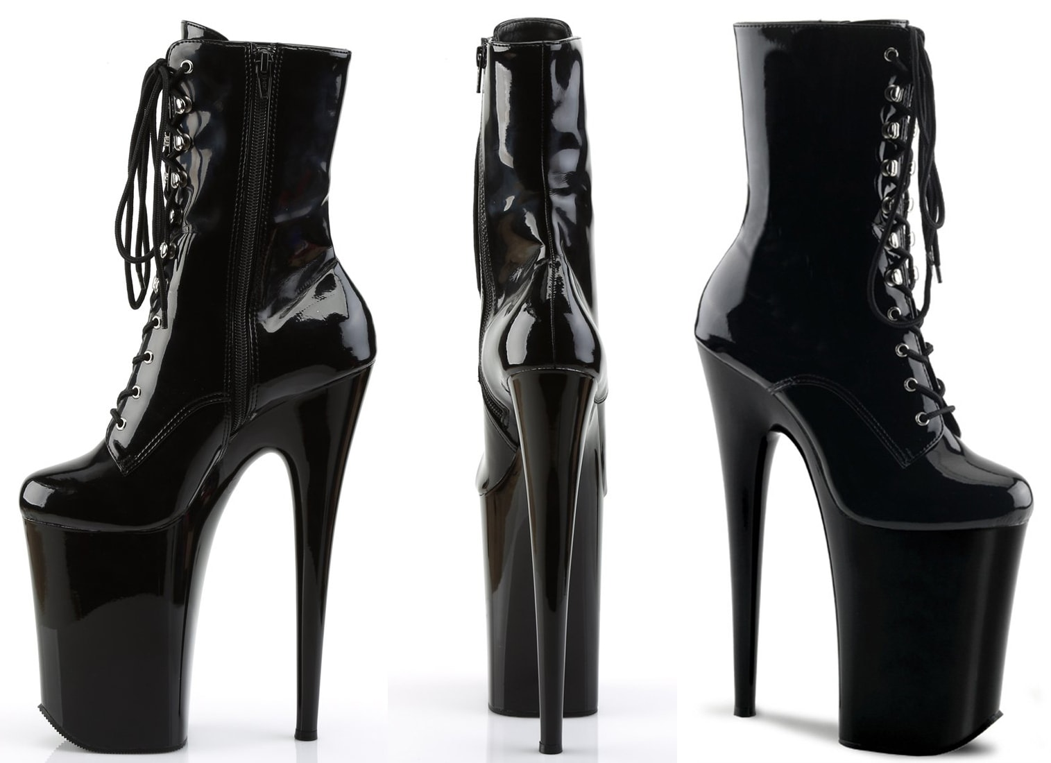The Infinity boots by Pleaser boast 9-inch towering heels and 5.25-inch platforms