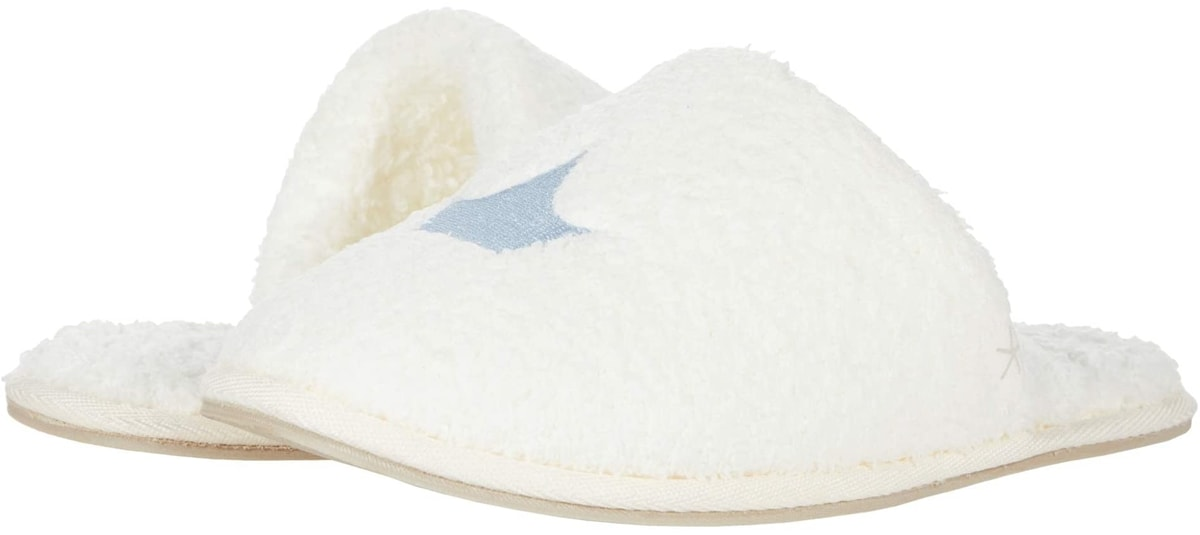 These Barefoot Dreams CozyChic Disney Cinderella slippers are crafted from a luxurious, buttery soft knit spun from ultra-fine nylon and rayon from bamboo