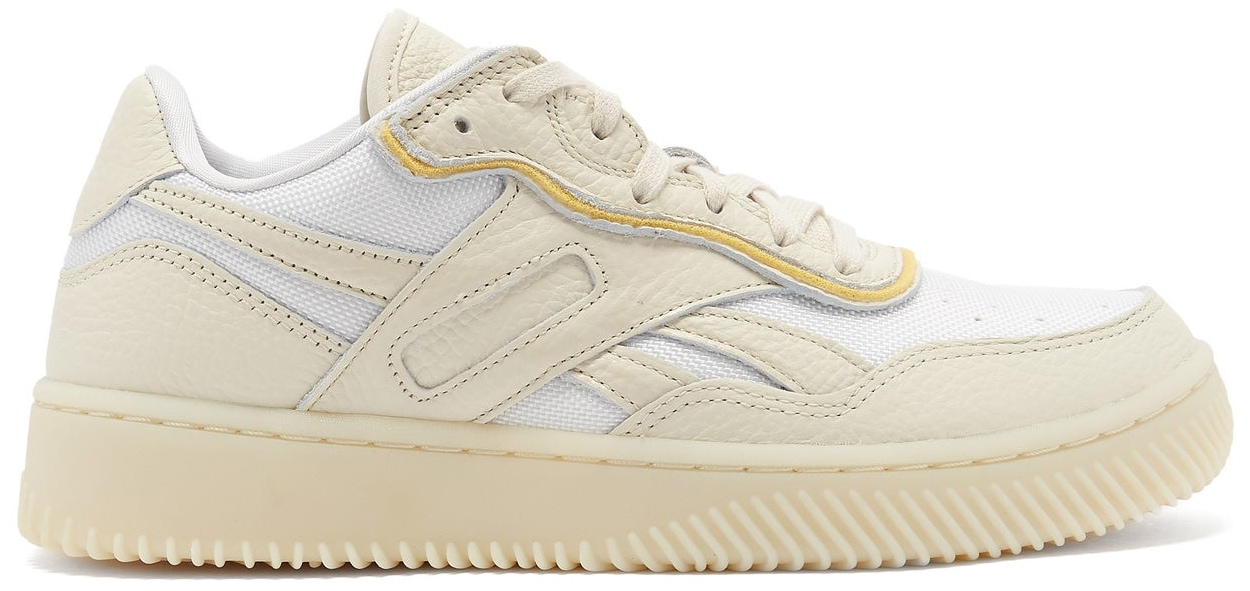 These trainers are Victoria Beckham's interpretation of Reebok's classic silhouette inspired by retro basketball and tennis shoes