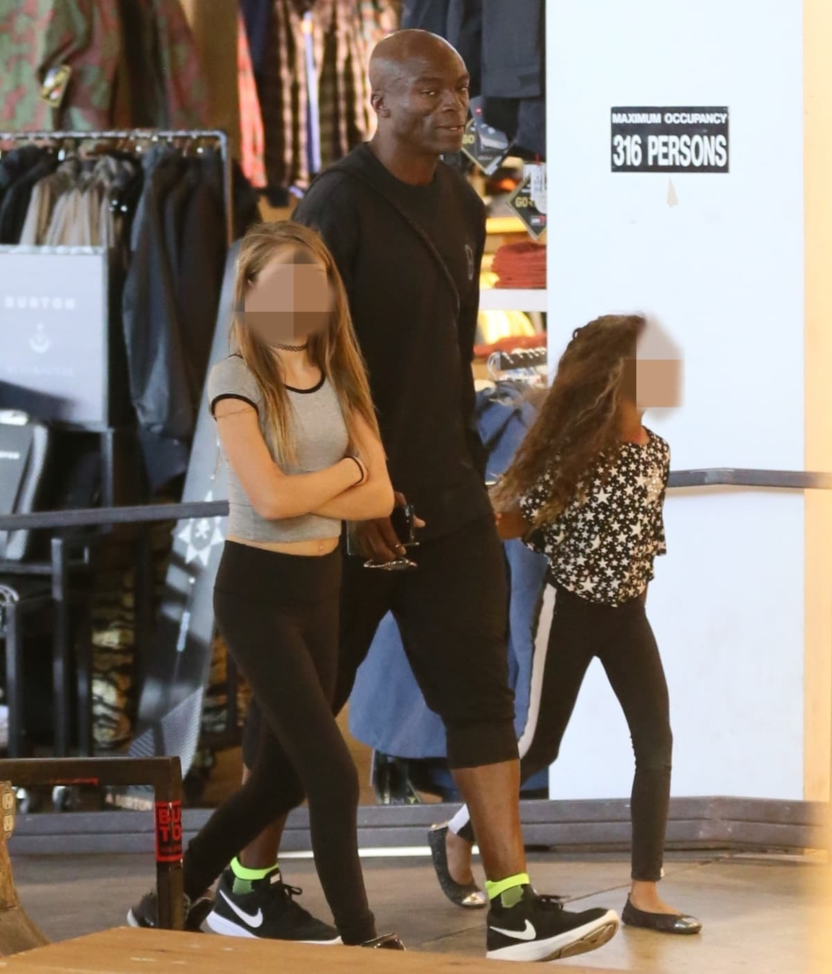 Seal takes Leni Samuel and Lou Samuel shopping for wintry athletic gear in Beverly Hills